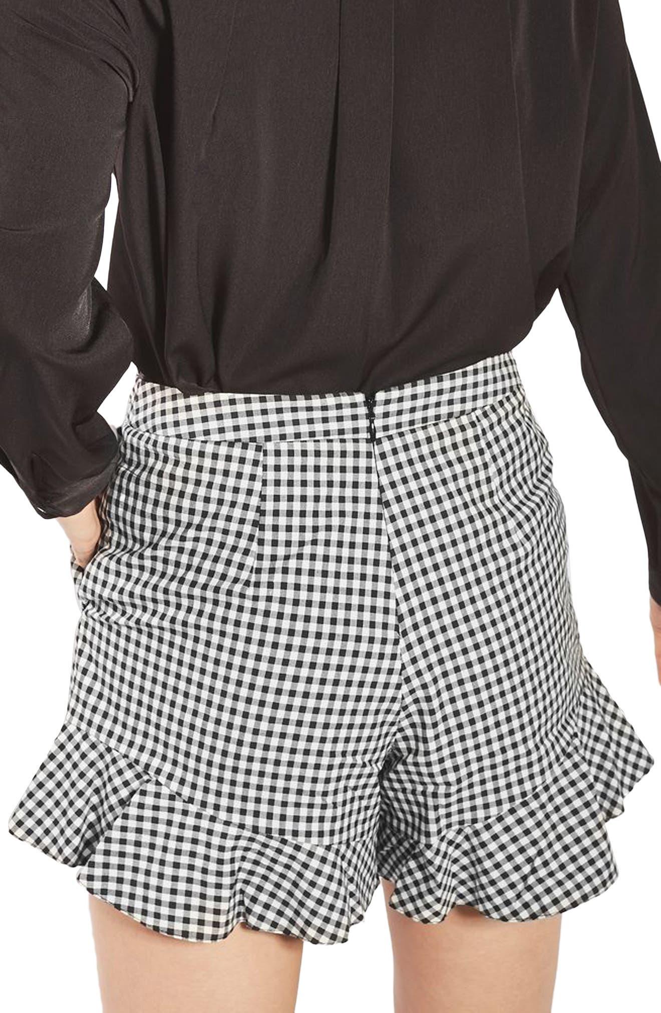 Alternate Image 3  - Topshop Gingham Frill Shorts