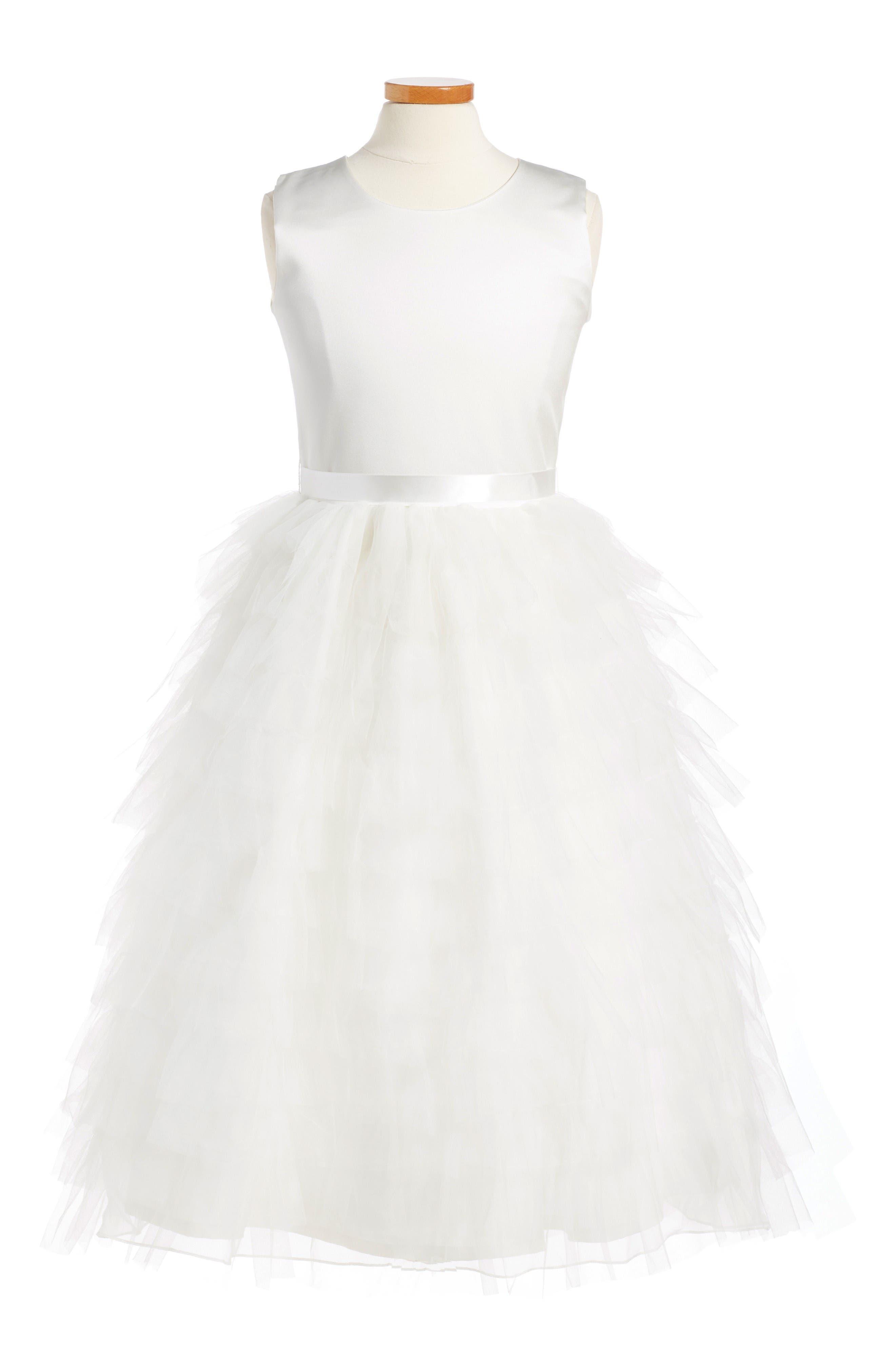 Joan Calabrese for Mon Cheri Cupcake Dress (Toddler Girls, Little Girls & Big Girls)