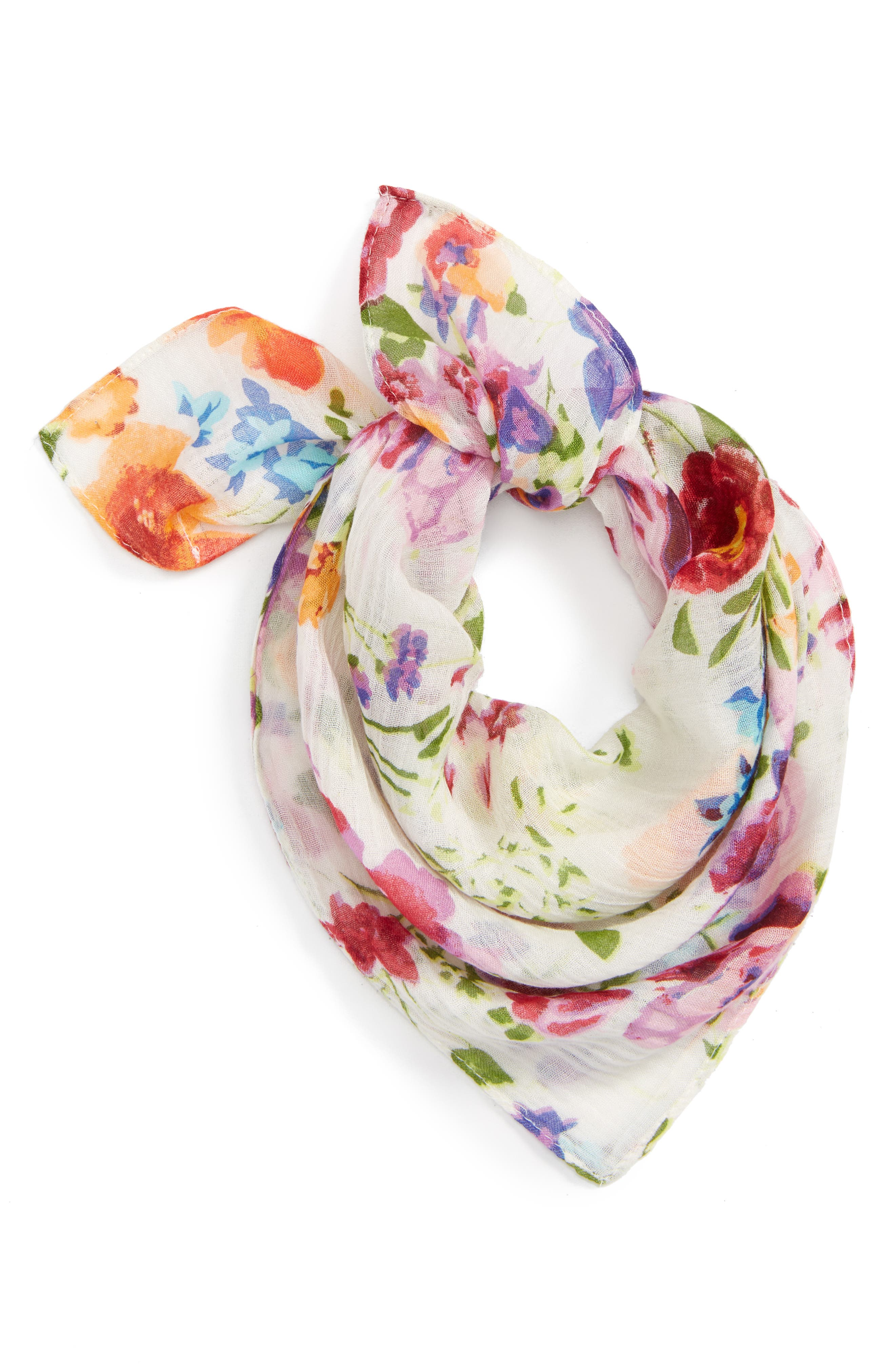 Alternate Image 1 Selected - Sole Society Floral Neck Scarf