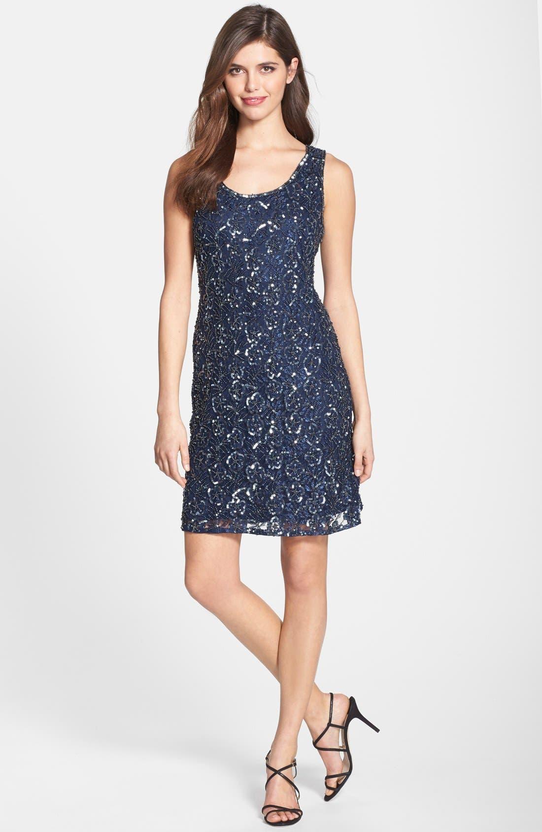 Alternate Image 3  - Pisarro Nights Embellished Mesh A-Line Dress