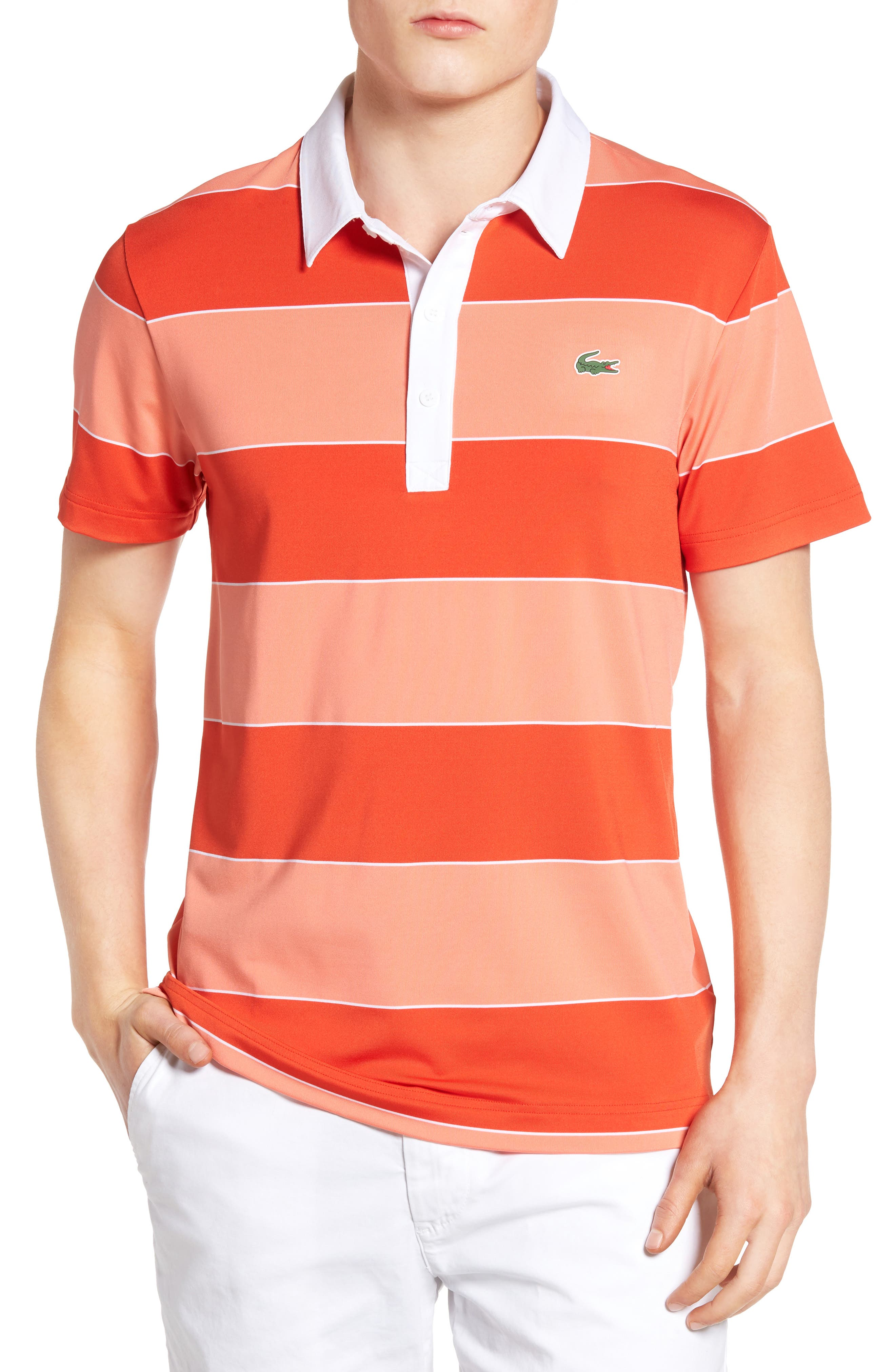 Lacoste Sport Stripe Golf Jersey Polo