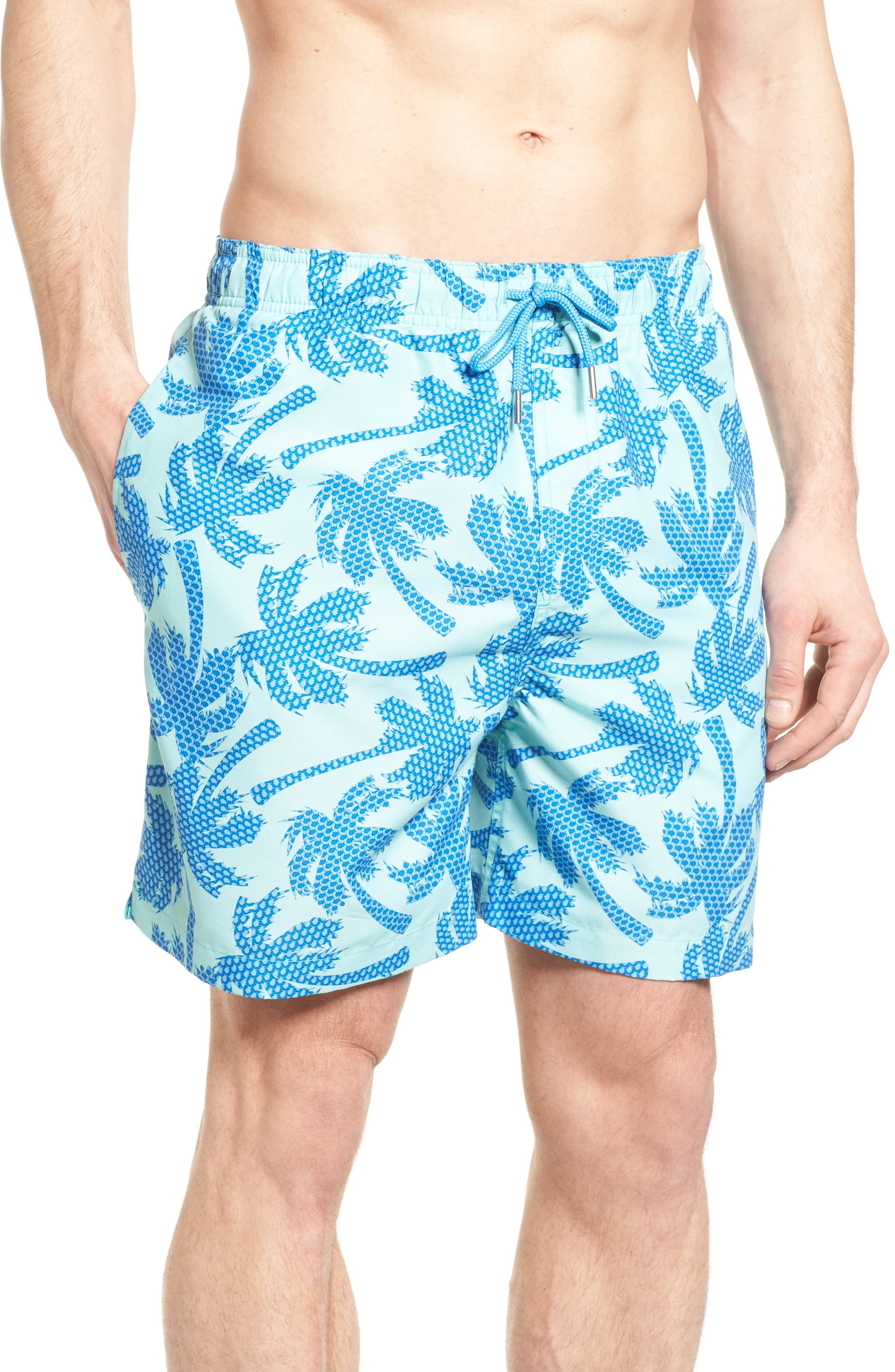 Southern Tide Palm Print Swim Trunks