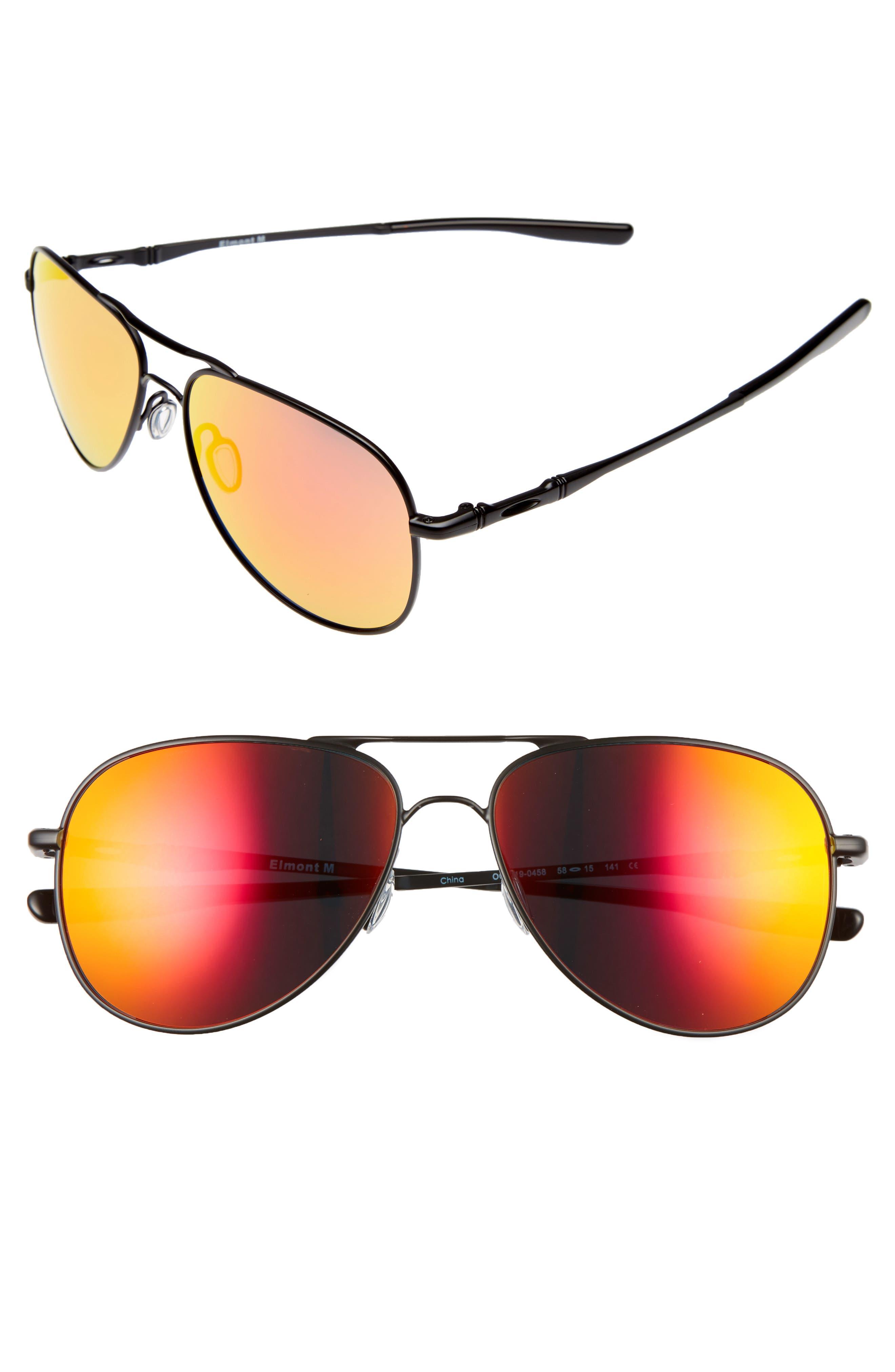 Oakley Elmont 58mm Aviator Sunglasses