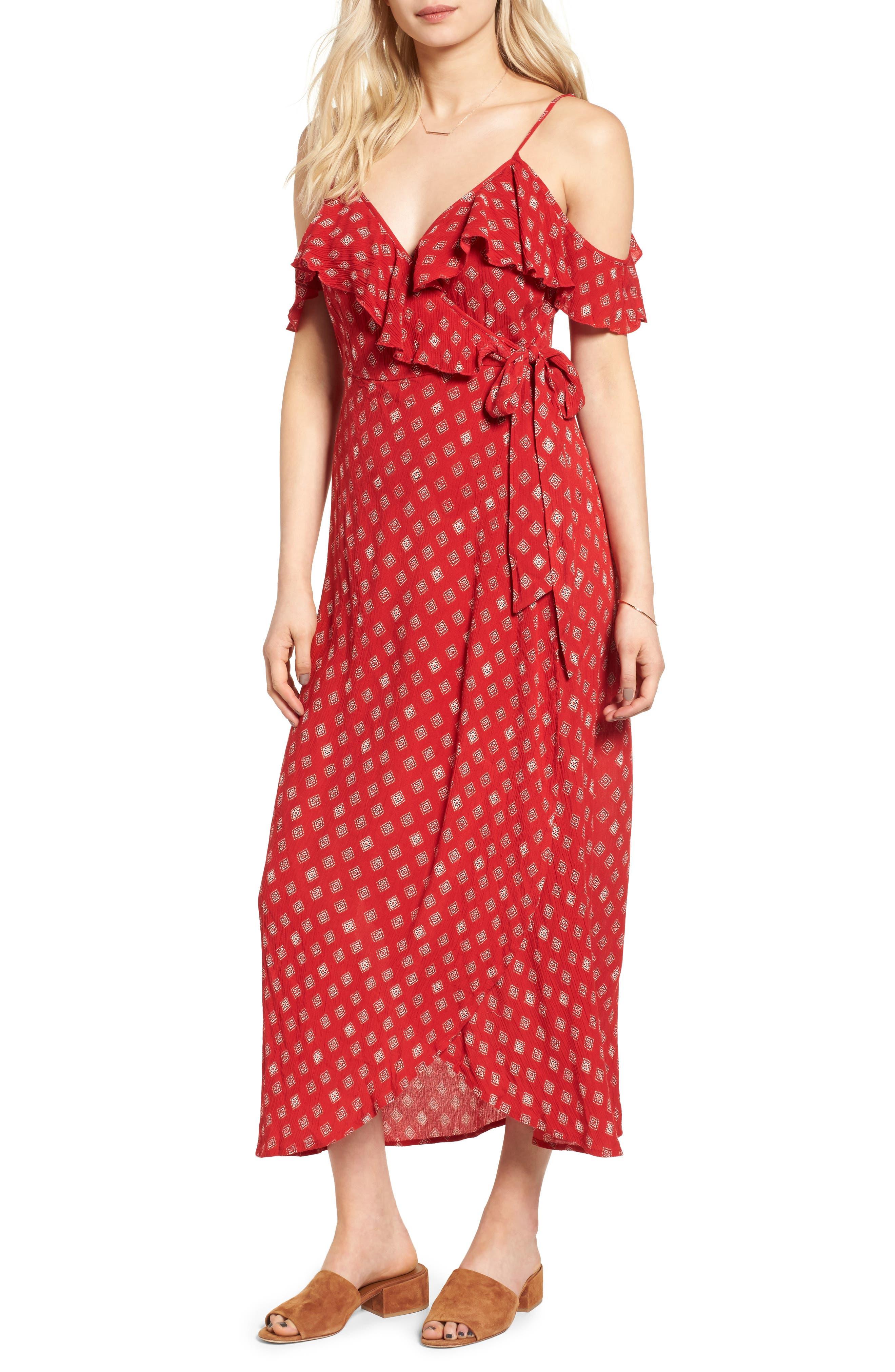 Alternate Image 1 Selected - Band of Gypsies Foulard Cold Shoulder Dress