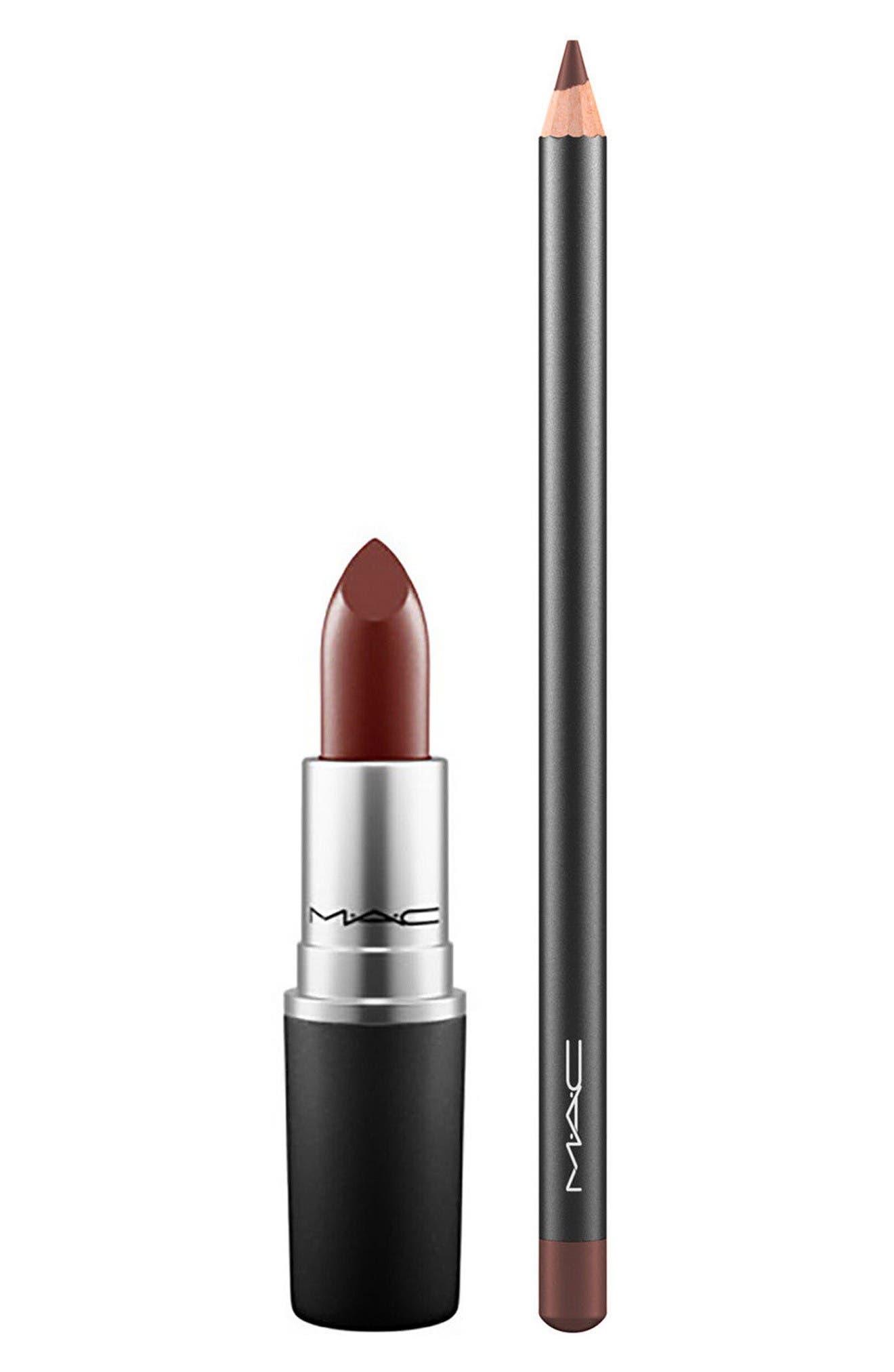MAC Antique Velvet & Chestnut Lipstick & Lip Pencil Duo