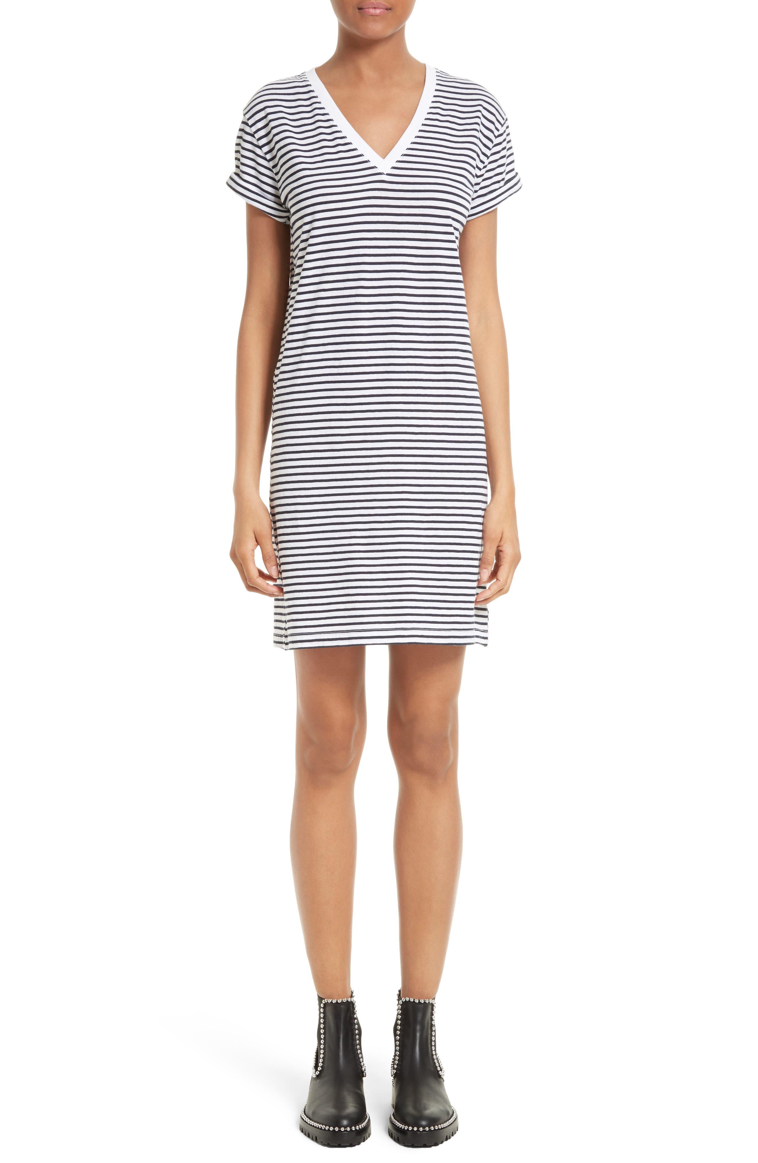 Main Image - T by Alexander Wang Stripe T-Shirt Dress