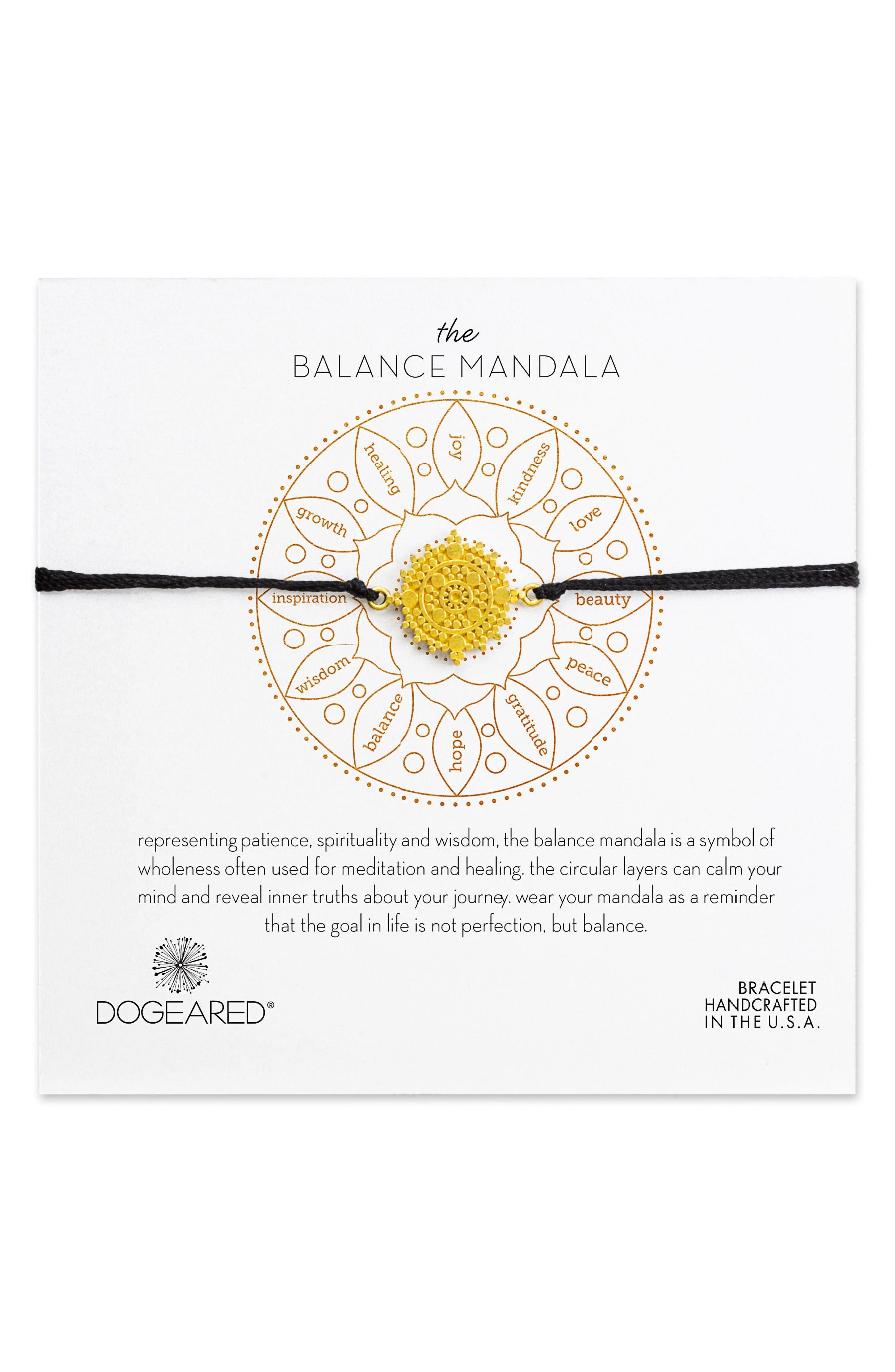 Dogeared The Balance Mandala Bracelet