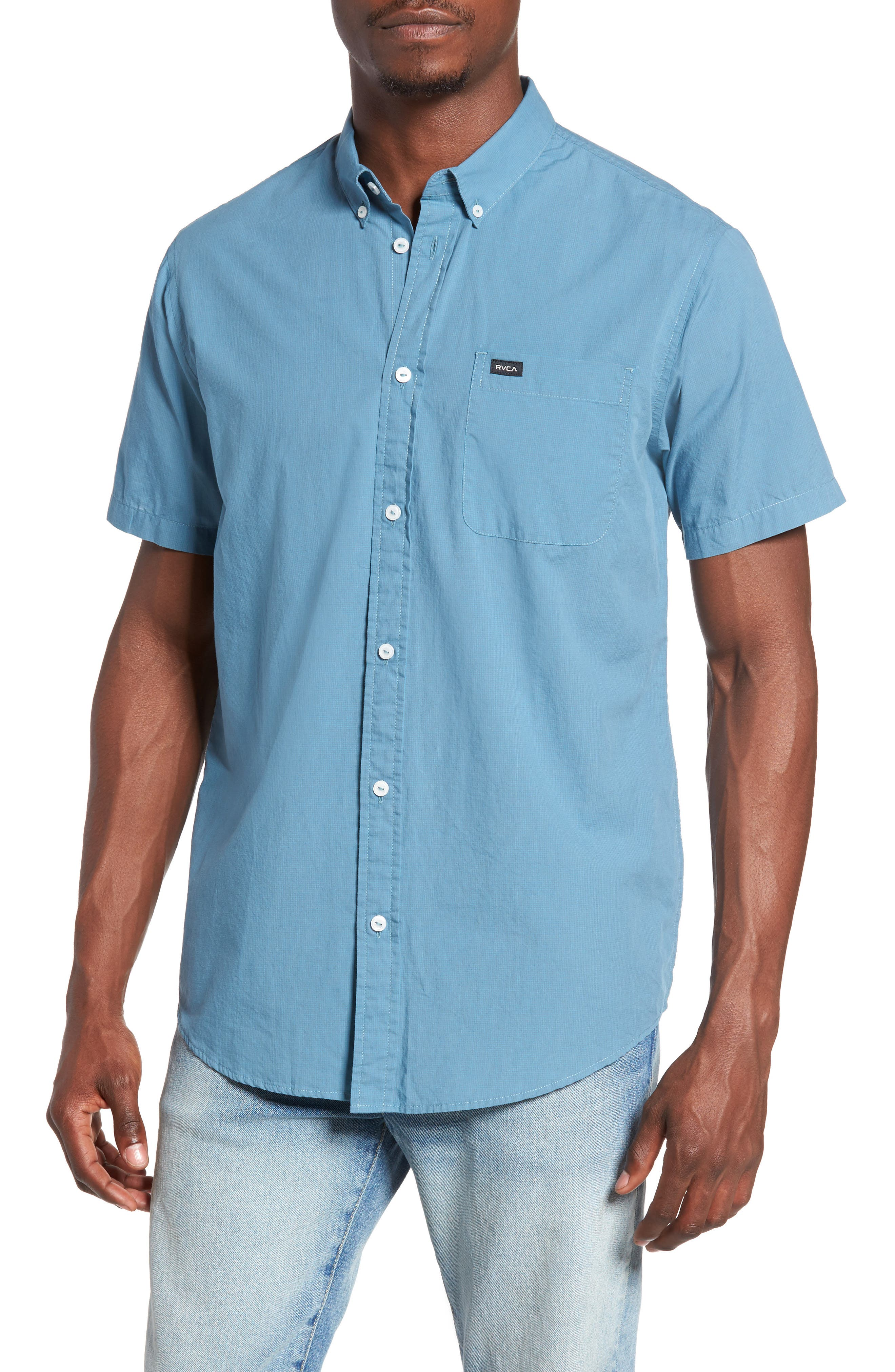 RVCA 'That'll Do' Slim Fit Microdot Woven Shirt