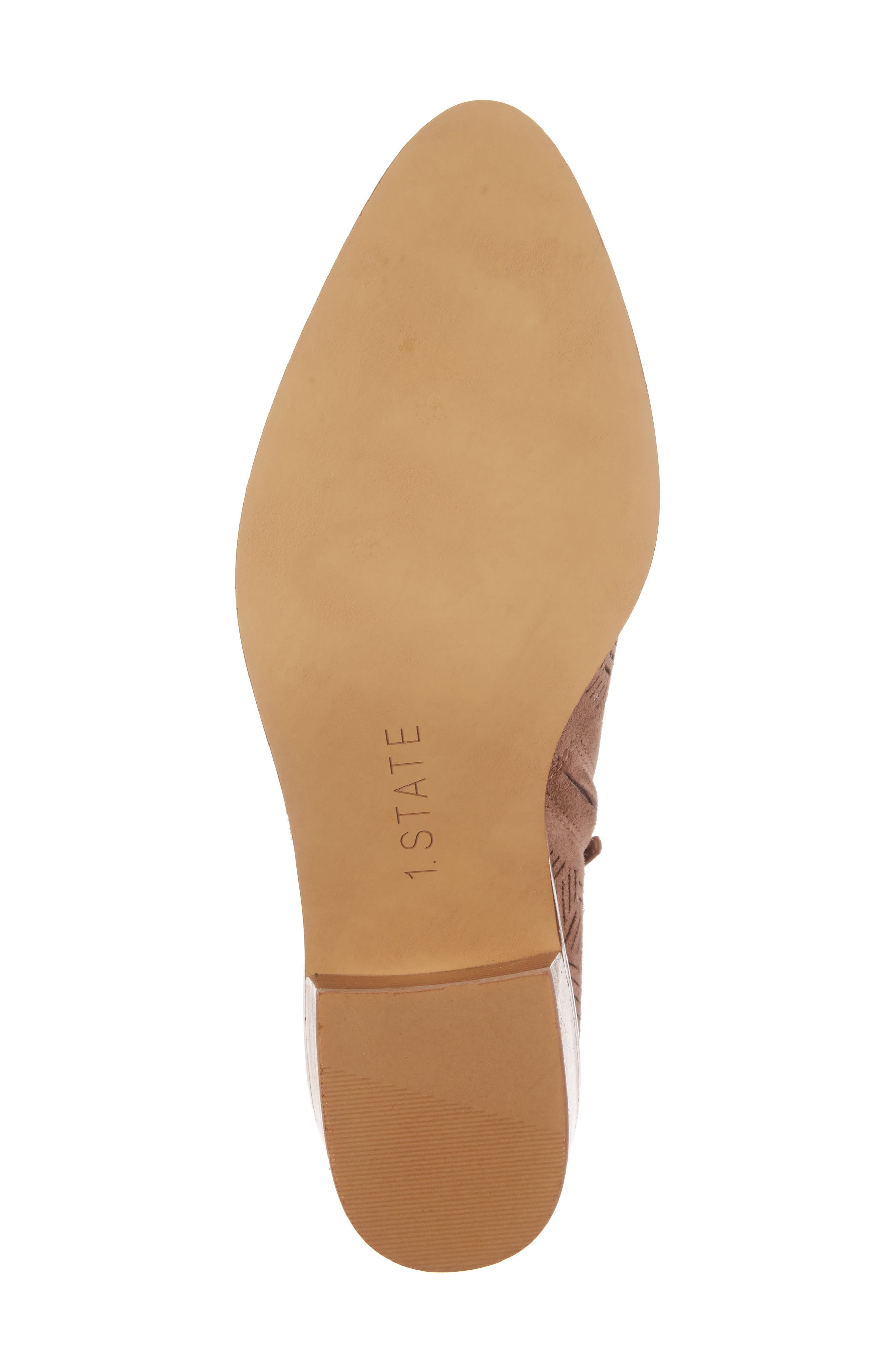 Alternate Image 6  - 1.STATE Iddah Perforated Cutaway Bootie (Women)