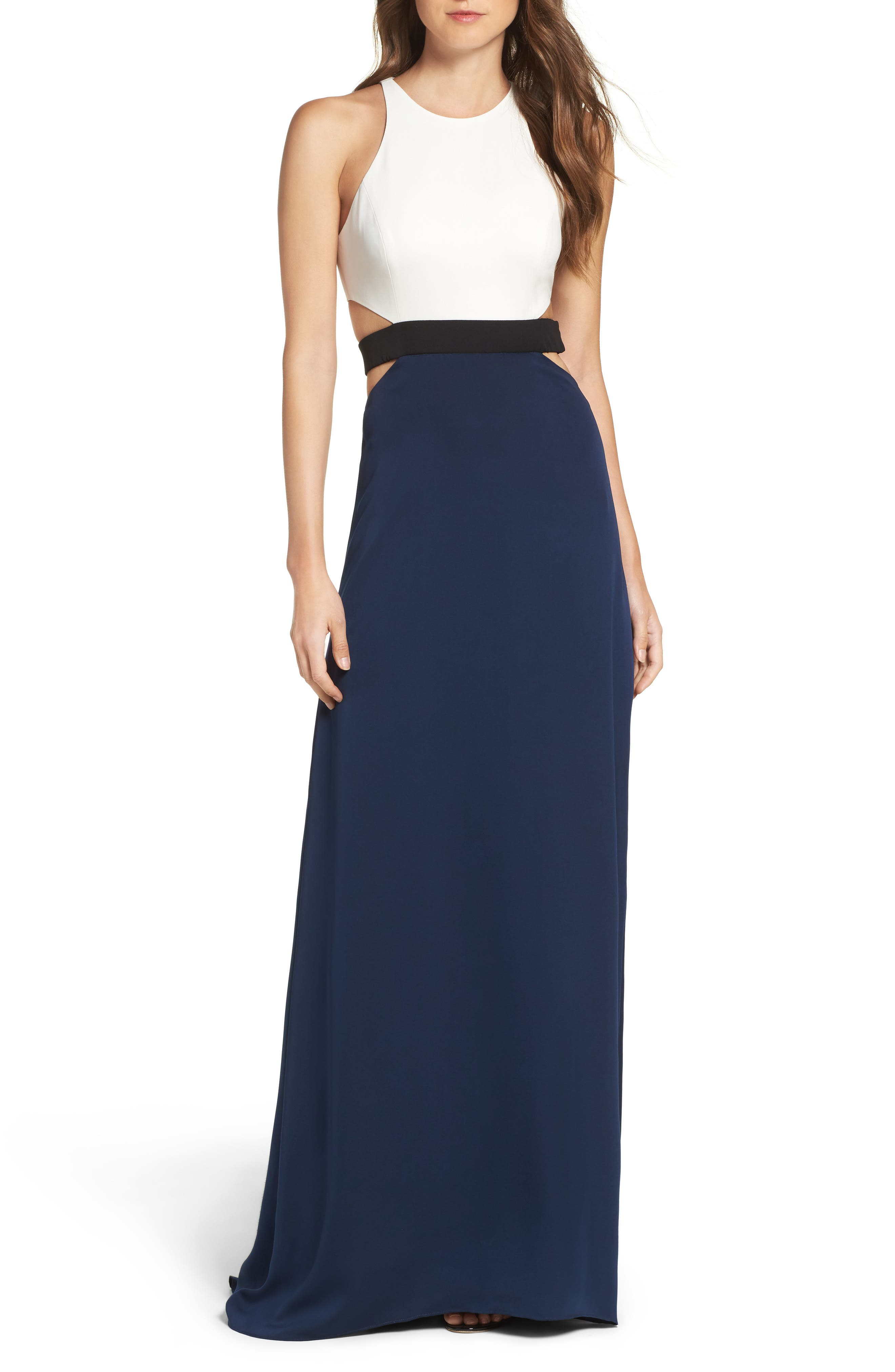 Halston Heritage Colorblock Gown