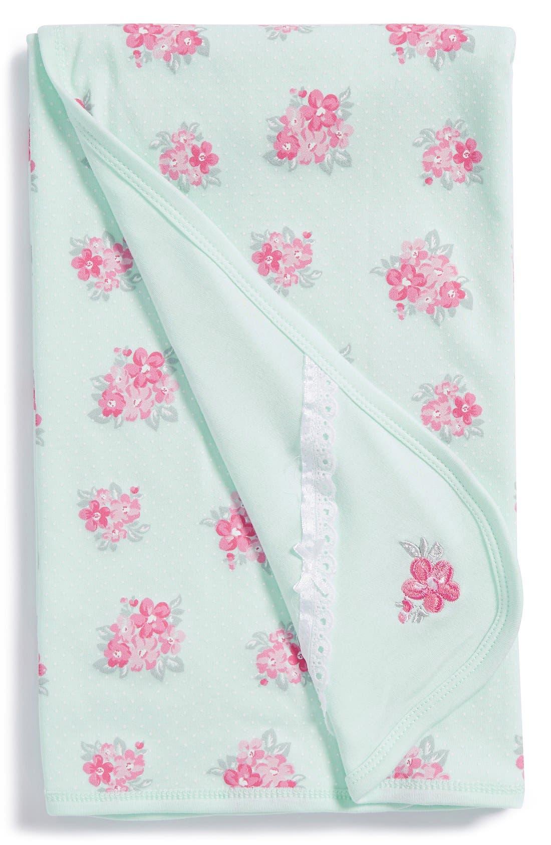 Alternate Image 1 Selected - Little Me 'Spring Posies' Receiving Blanket