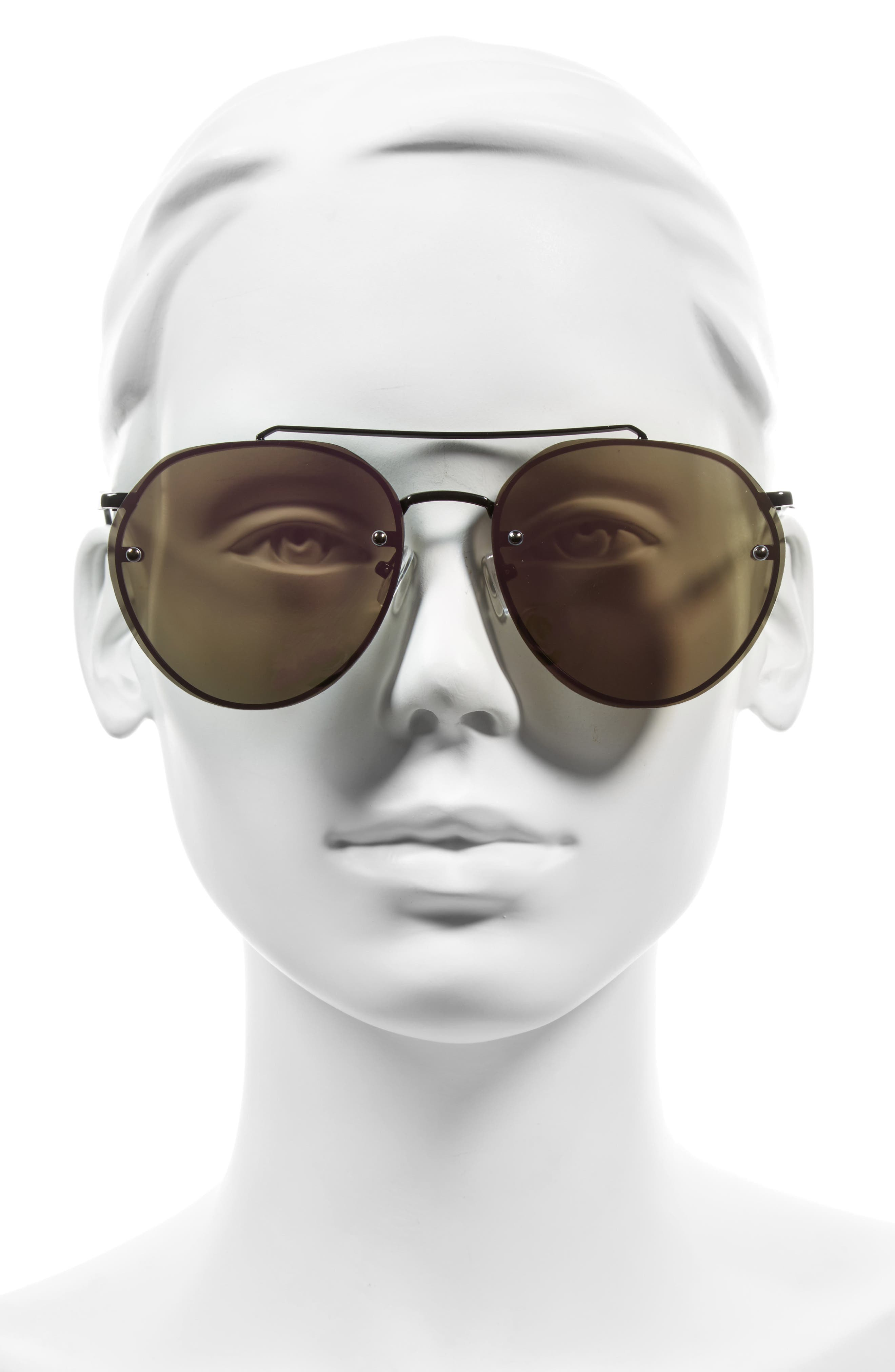 Alternate Image 2  - Leith Kitty 60mm Mirrored Sunglasses