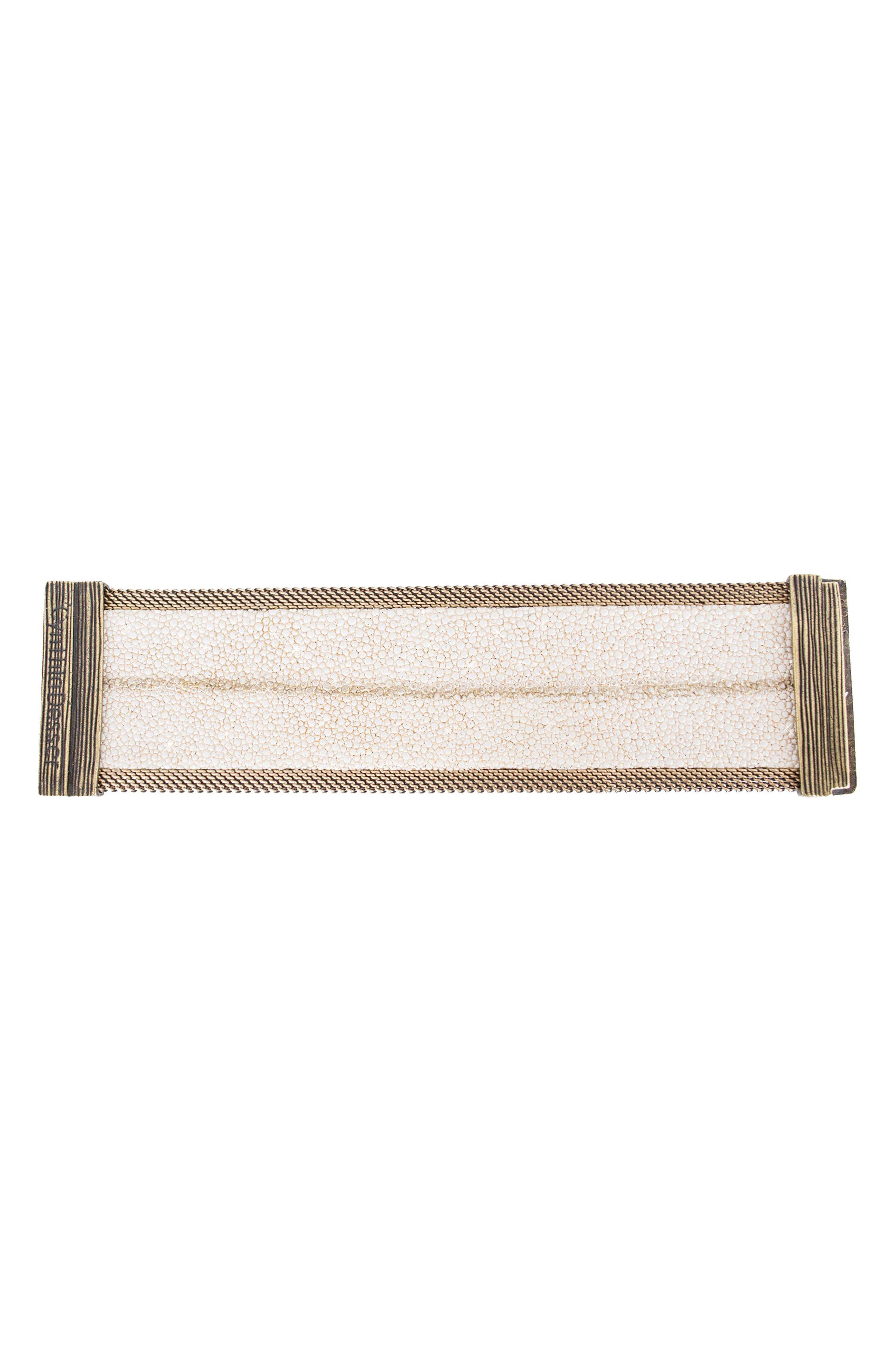 Alternate Image 4  - Cynthia Desser Genuine Stingray Skin Bracelet