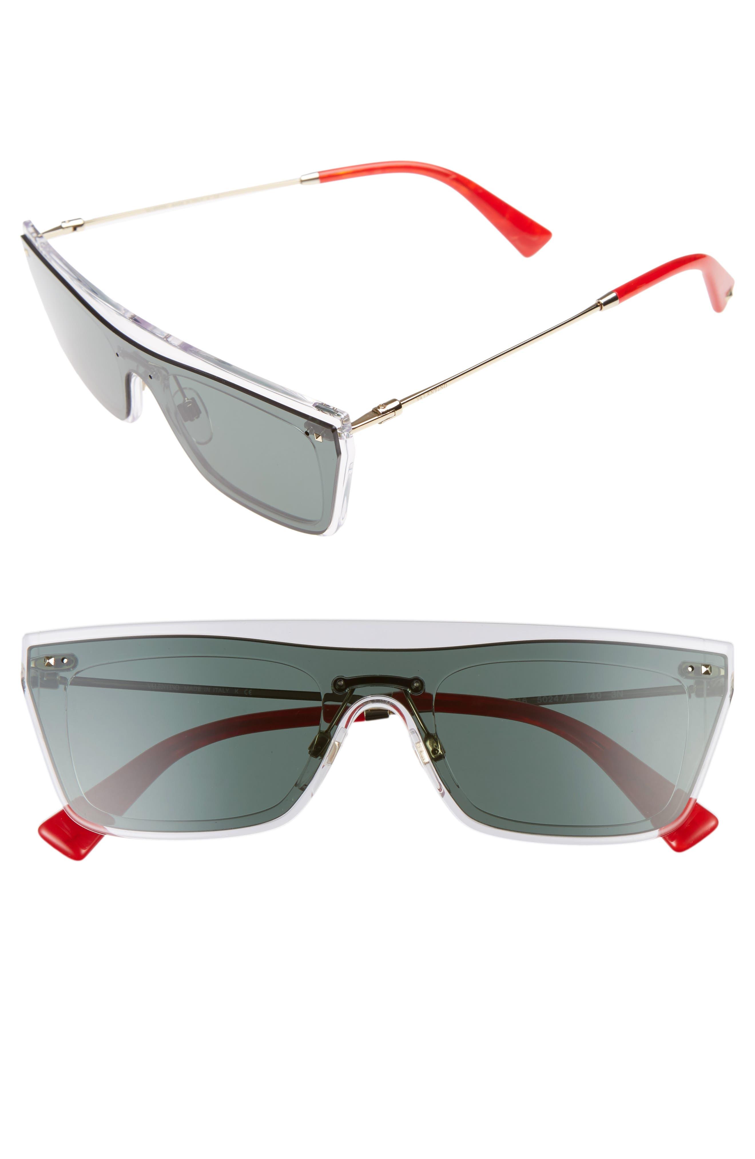 Valentino Rockstud 50mm Rectangular Sunglasses