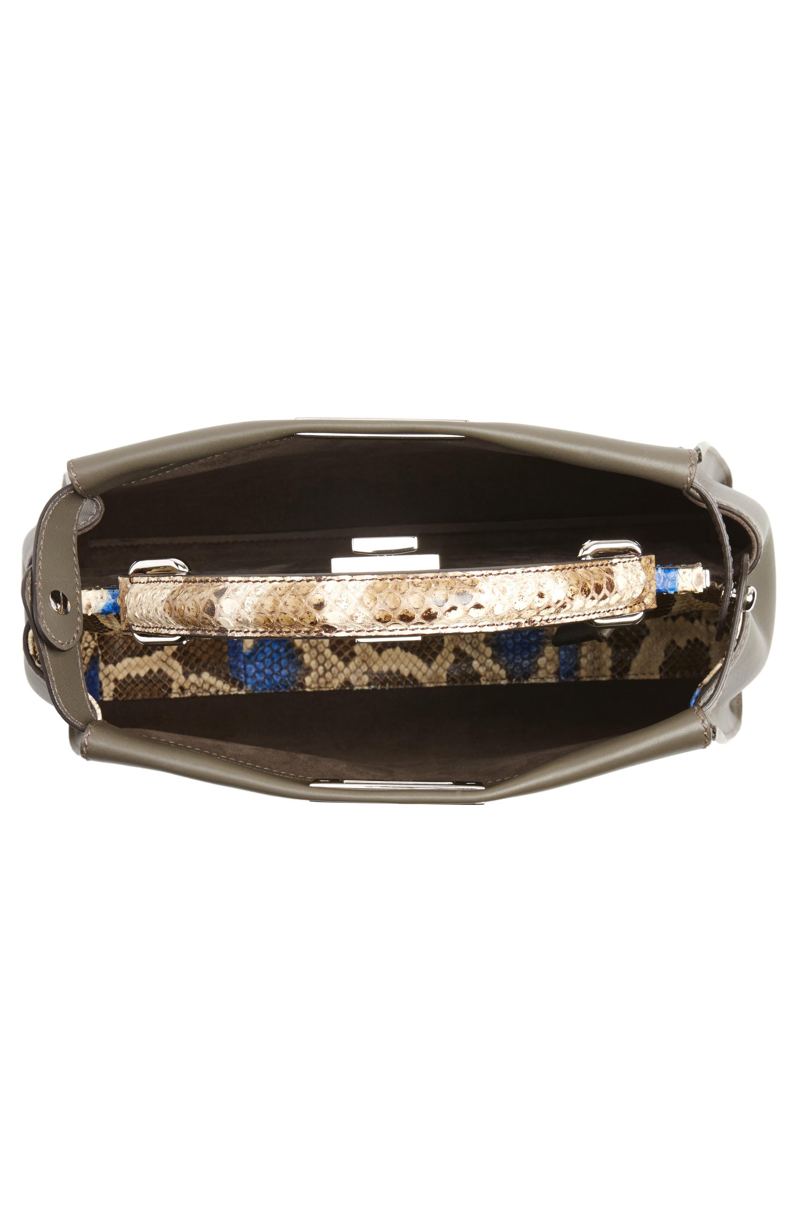 Alternate Image 4  - Fendi Peekaboo Calfskin Leather & Genuine Python Satchel