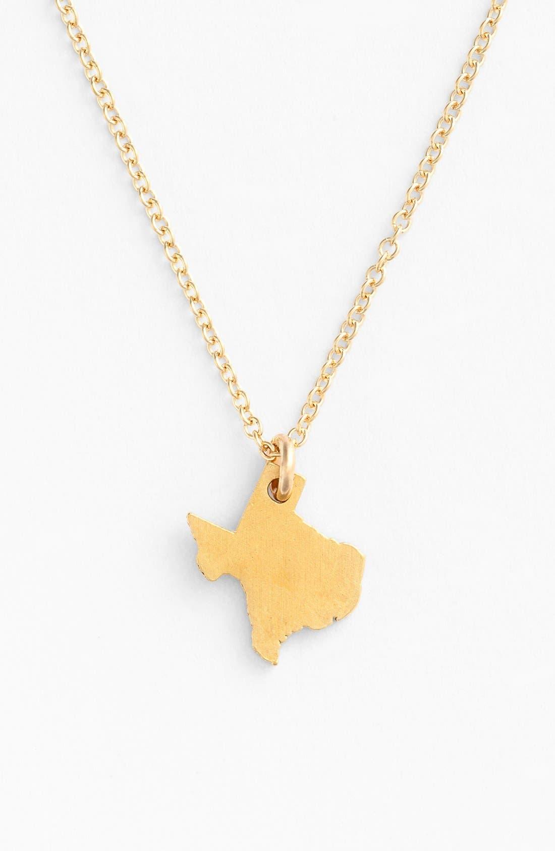 Alternate Image 4  - Dogeared 'Reminder - I Heart Texas' Pendant Necklace
