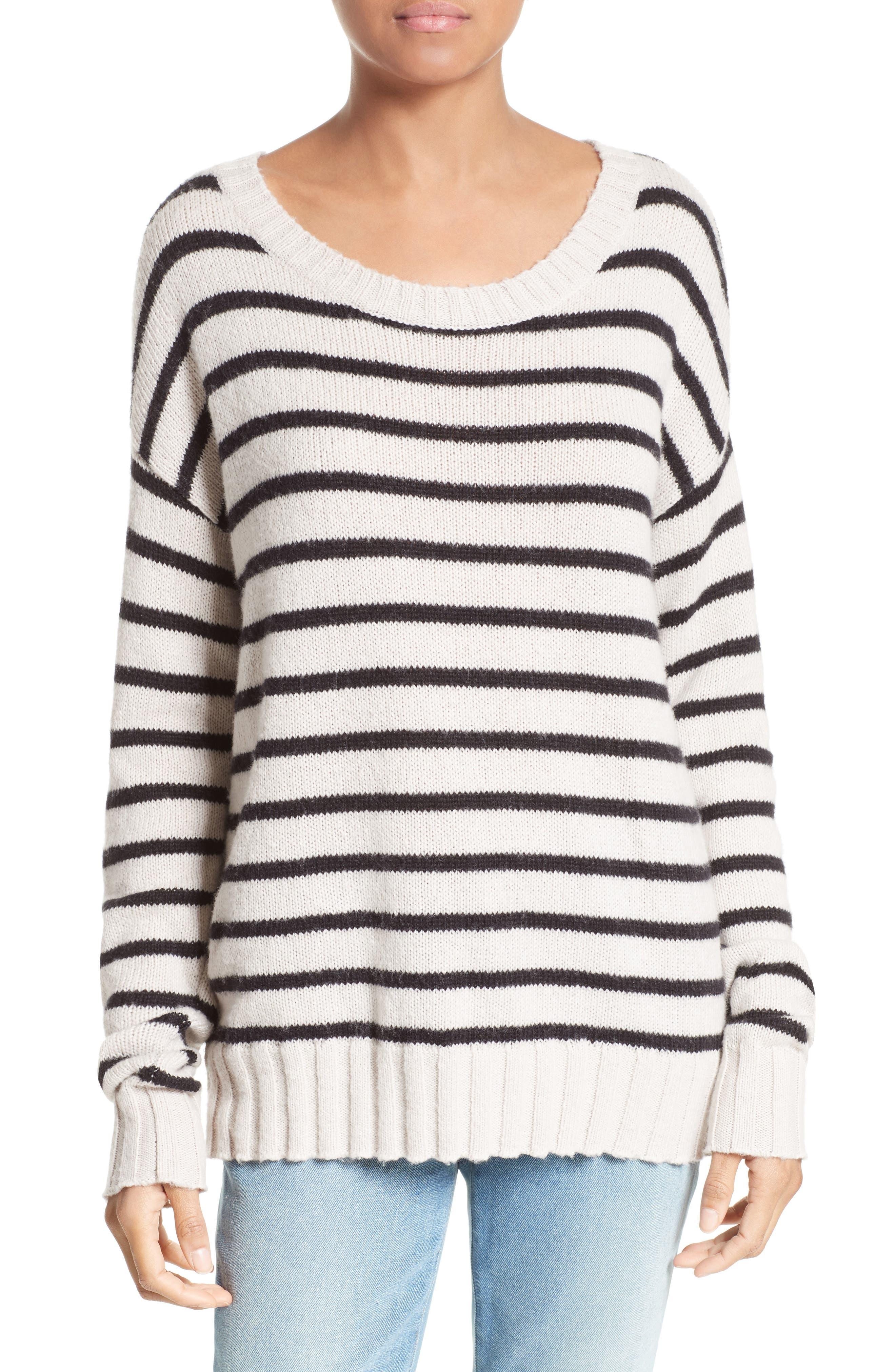 A.L.C. Rowan Stripe Cotton Blend Sweater