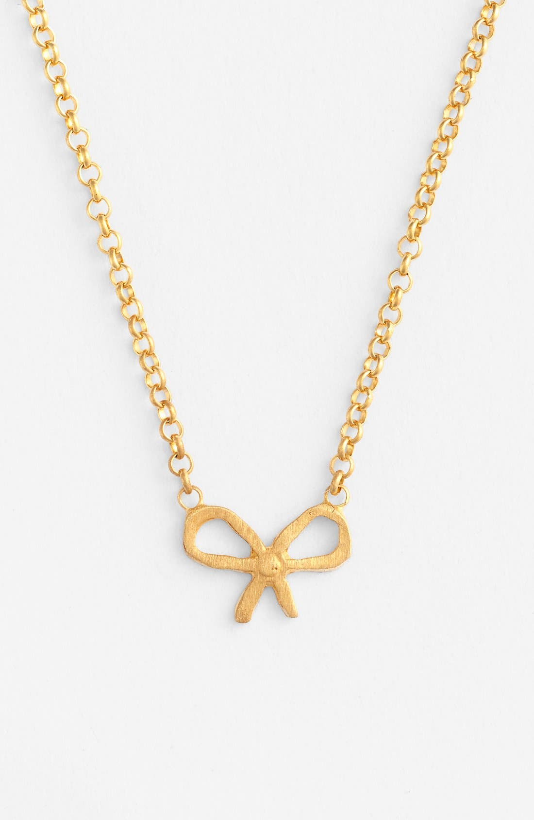 Alternate Image 4  - Dogeared 'Friends - Bow' Pendant Necklace (Nordstrom Exclusive)