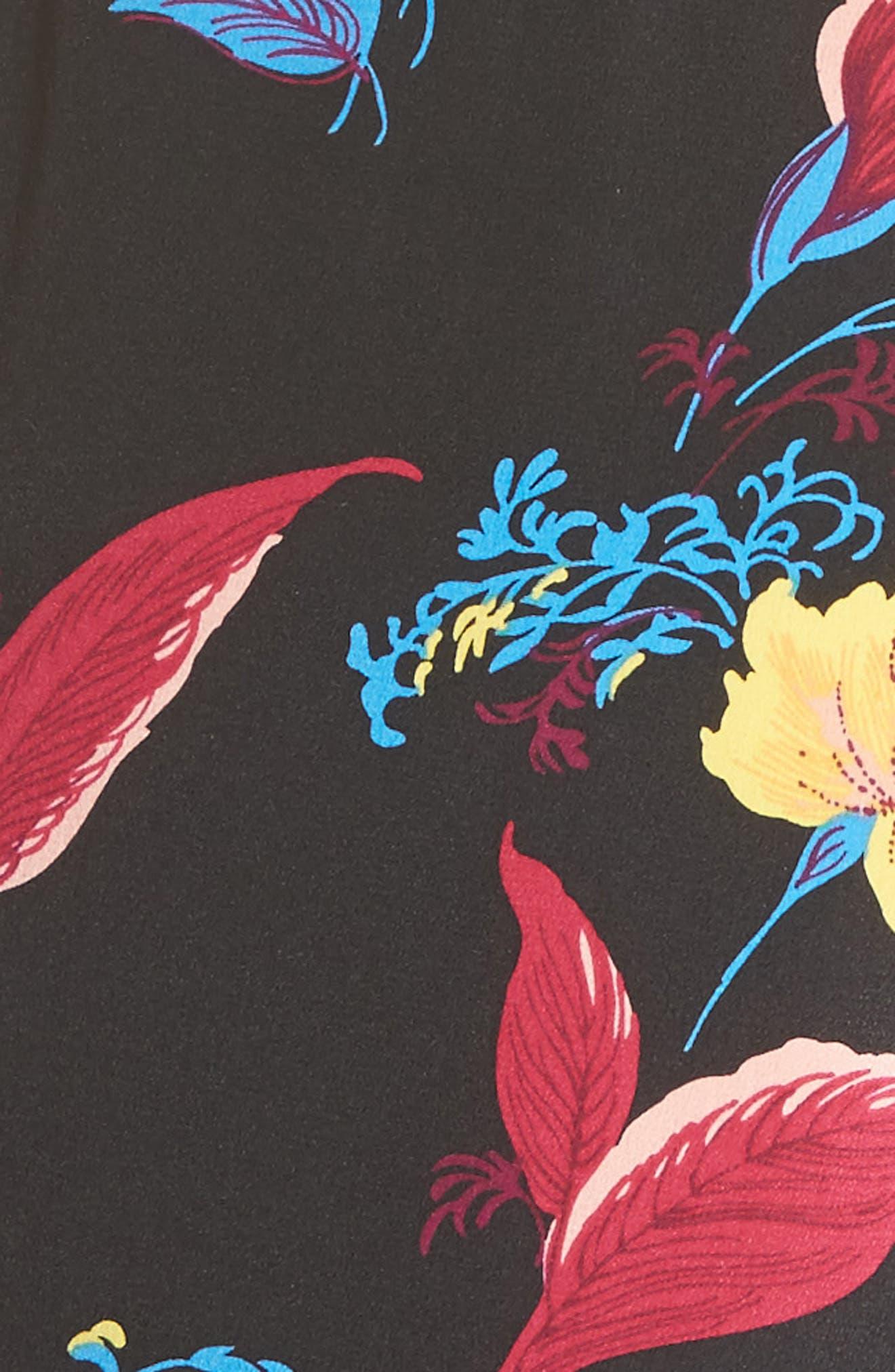 Alternate Image 5  - Diane von Furstenberg Floral Crop Silk Jumpsuit