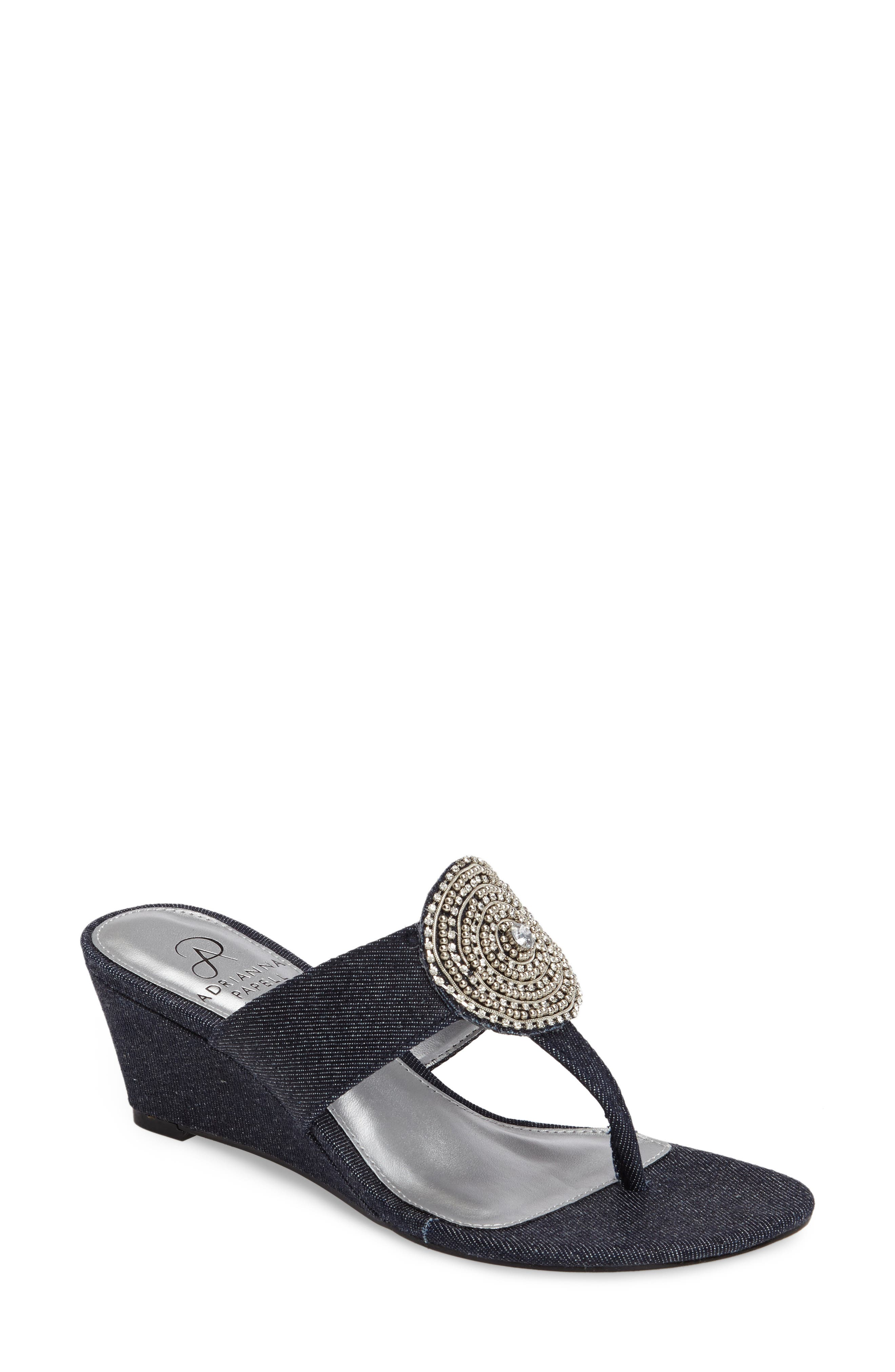 Adrianna Papell Casey Wedge Sandal (Women)