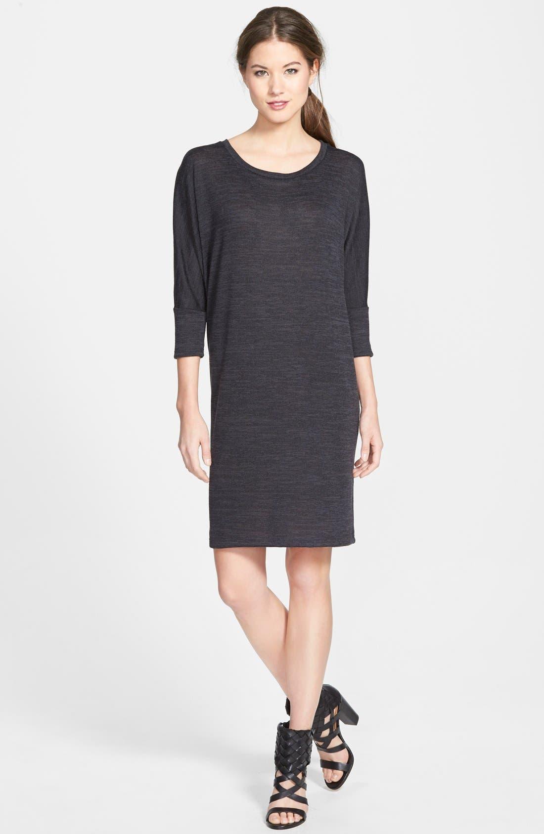Main Image - Bobeau Three Quarter Dolman Sleeve Sweater Dress