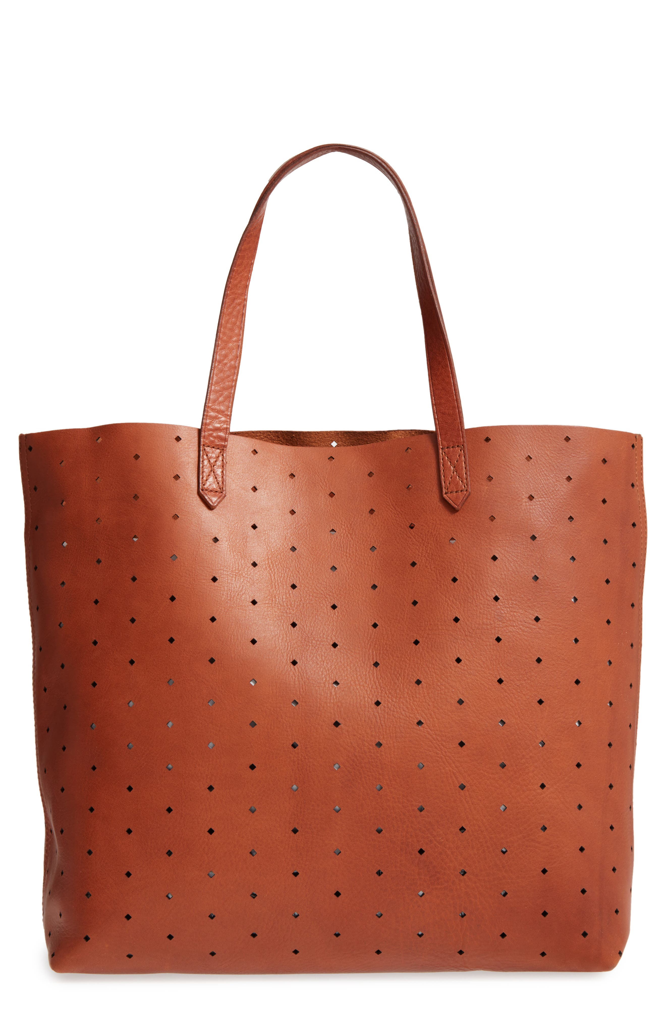 Alternate Image 1 Selected - Madewell Transport Perforated Leather Tote