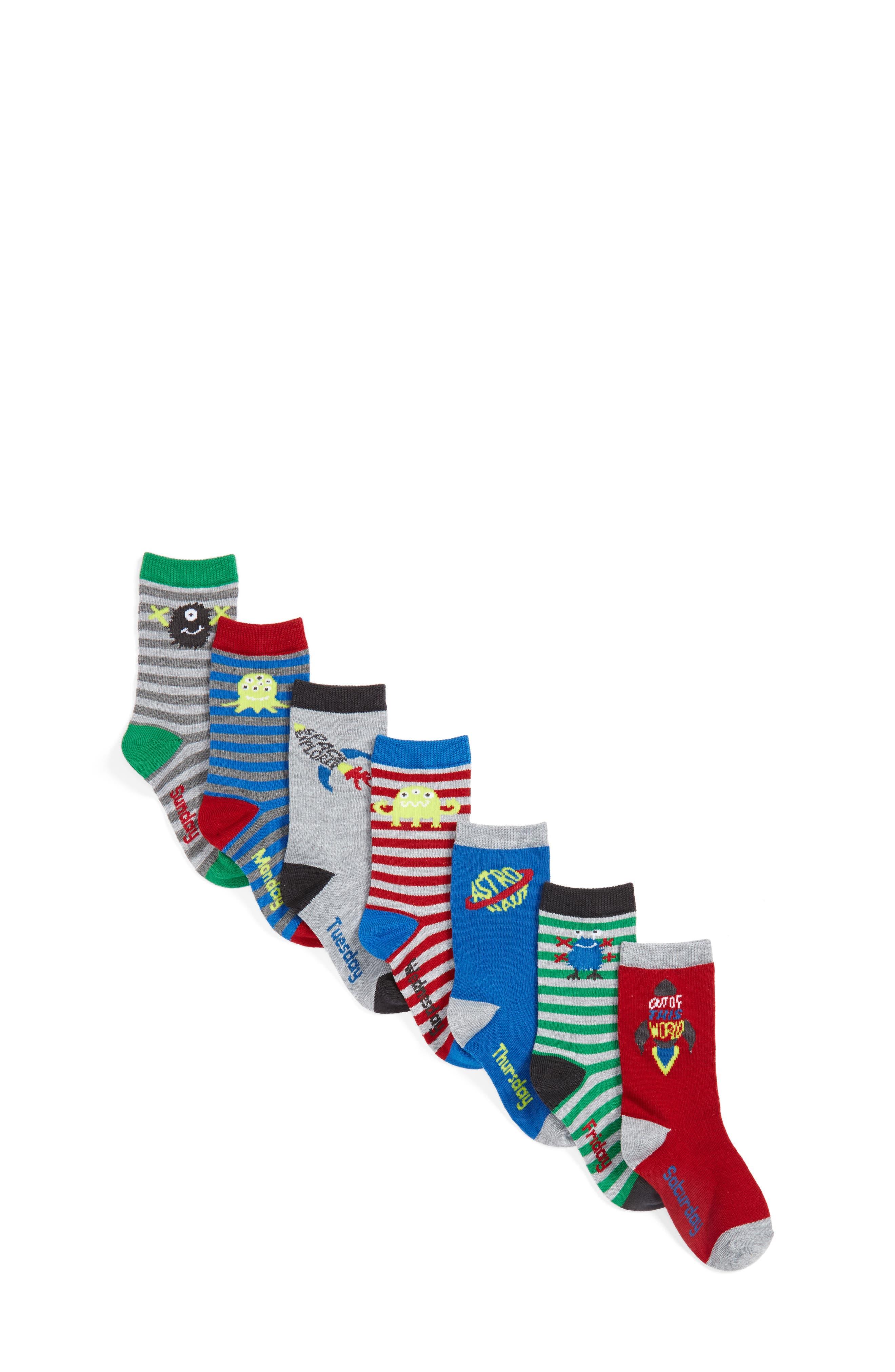 Tucker + Tate Assorted 7-Pack Socks (Toddler, Little Kid & Big Kid)