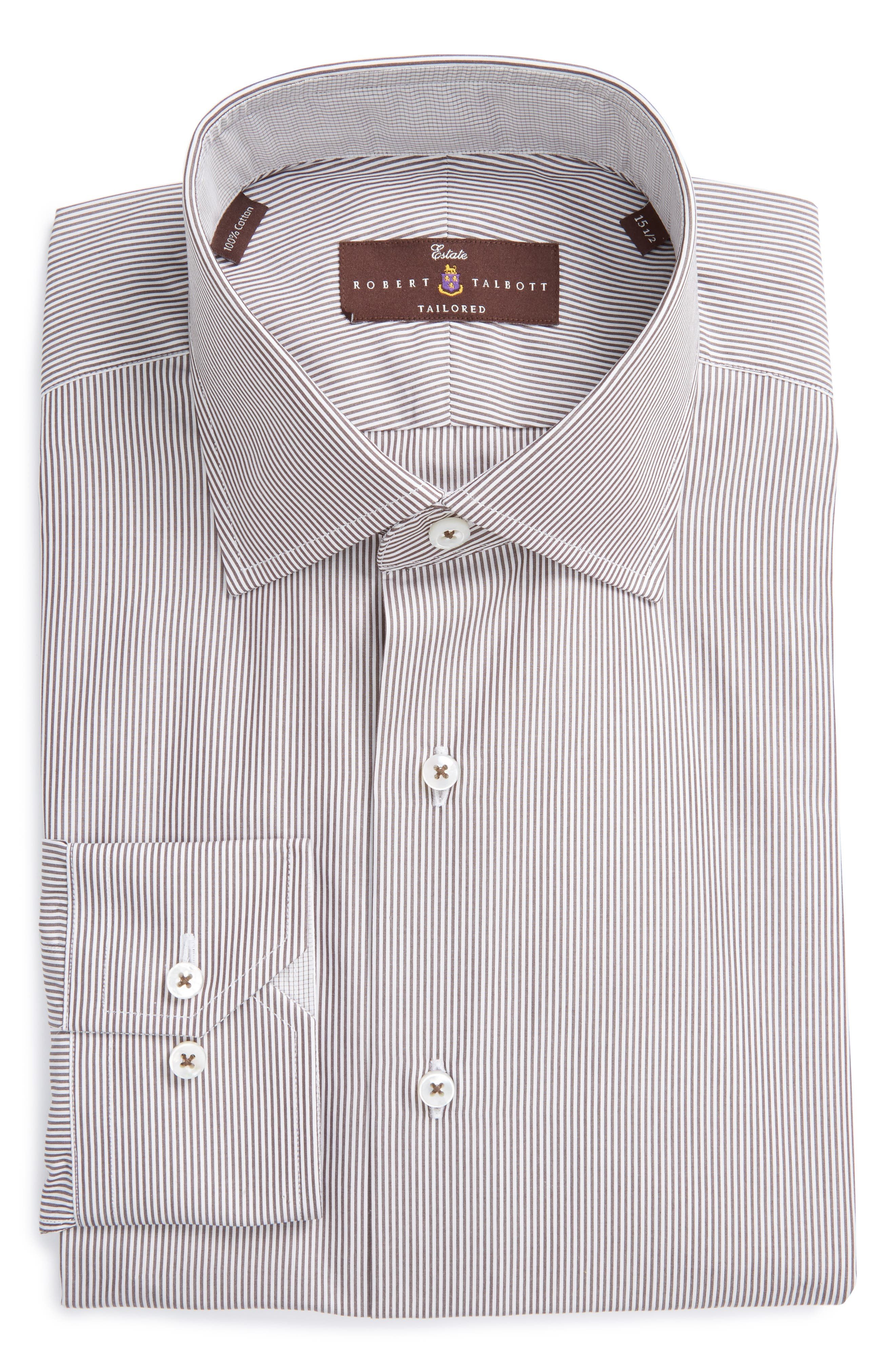 Robert Talbott Estate Tailored Fit Stripe Dress Shirt