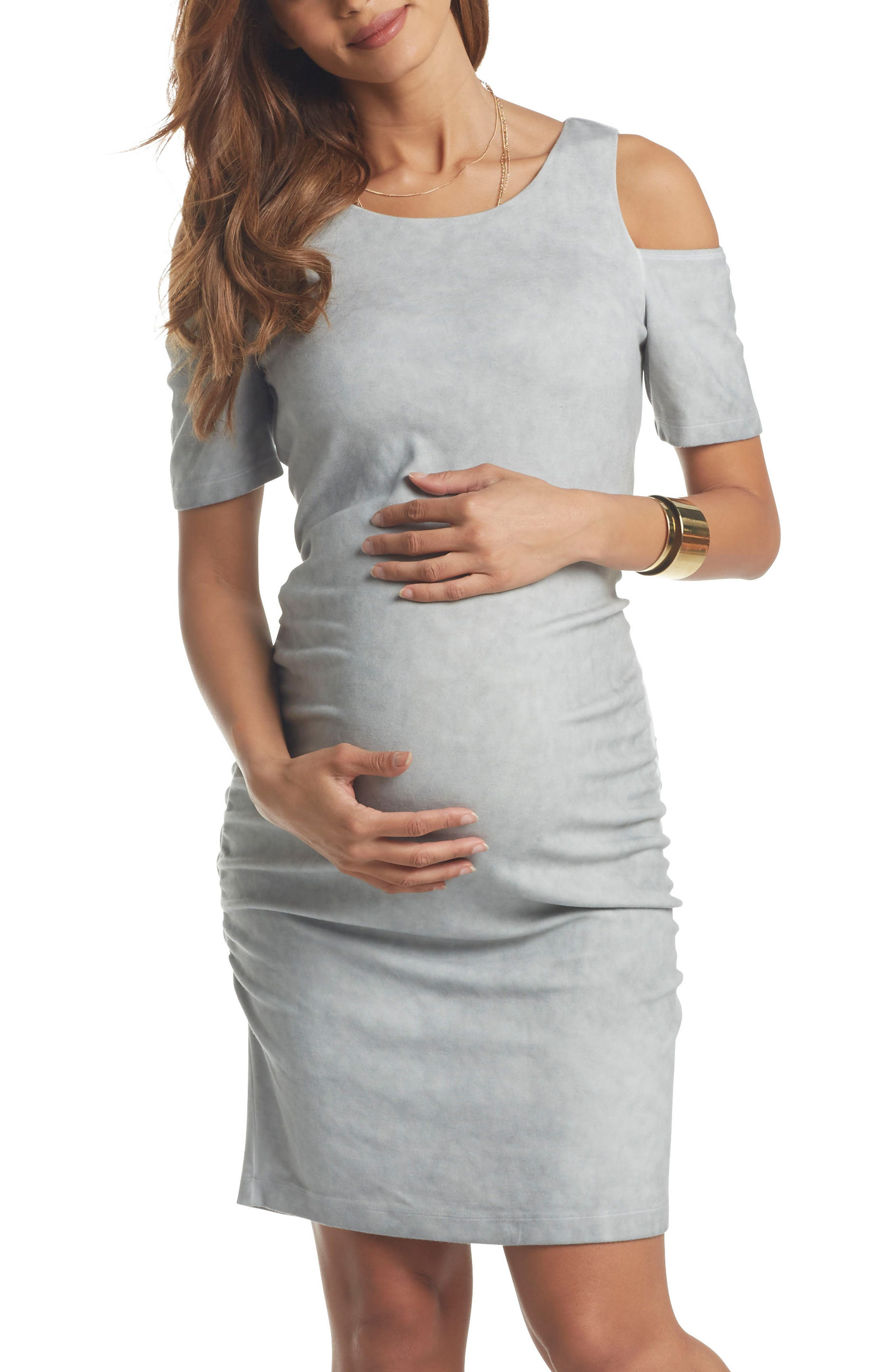 Tart Maternity Rosie Cold Shoulder Body-Con Maternity Dress
