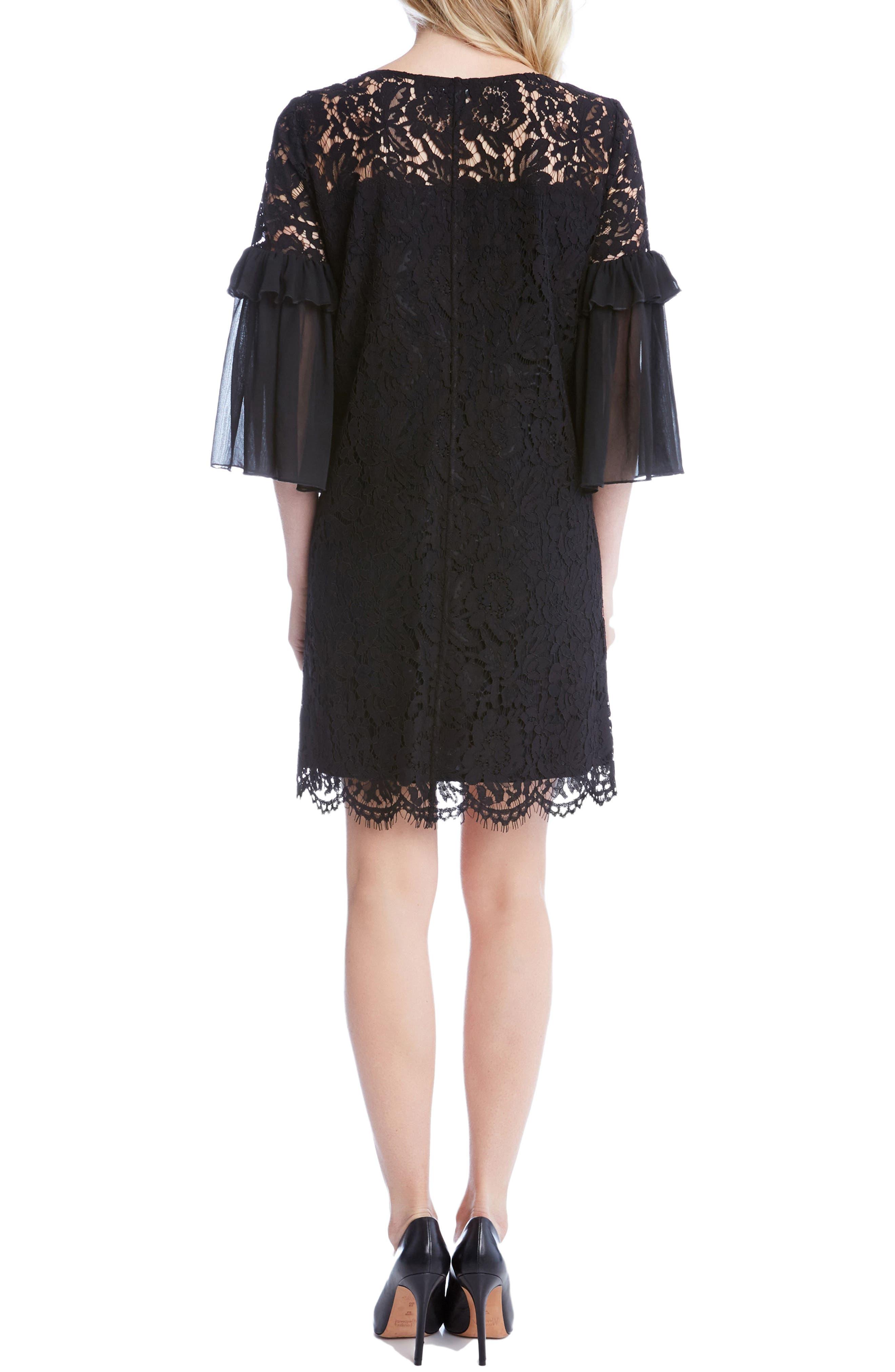 Alternate Image 2  - Karen Kane Ruffle Sleeve Lace Shift Dress