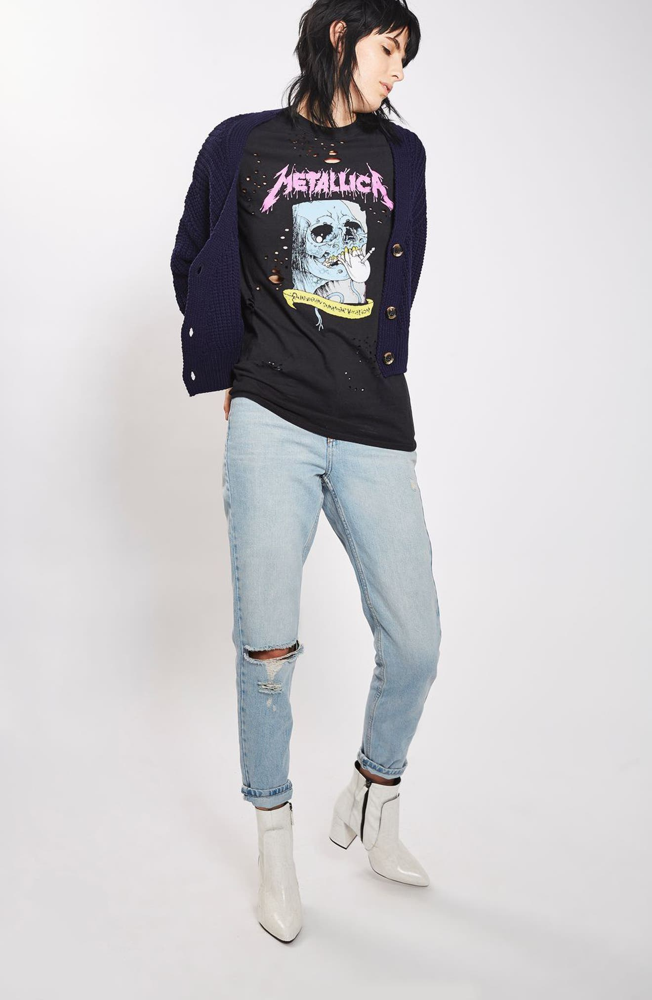 Alternate Image 2  - Topshop by And Finally Nibbled Metallic Tee