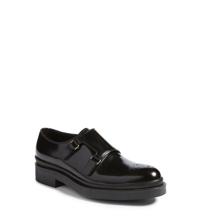 f4cc253fcda Main Image - Prada Double Monk Strap Shoe (Men)