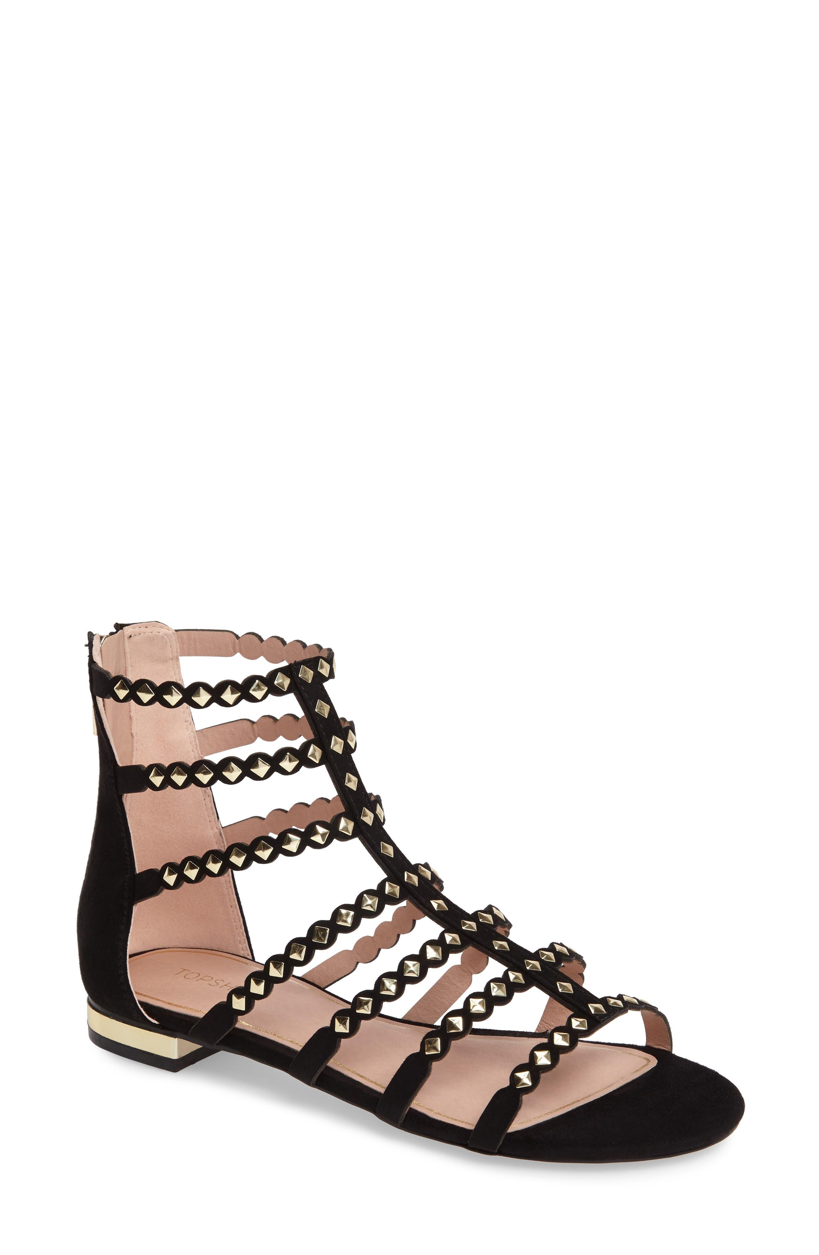 Alternate Image 1 Selected - Topshop Higher Stud Gladiator Sandal (Women)