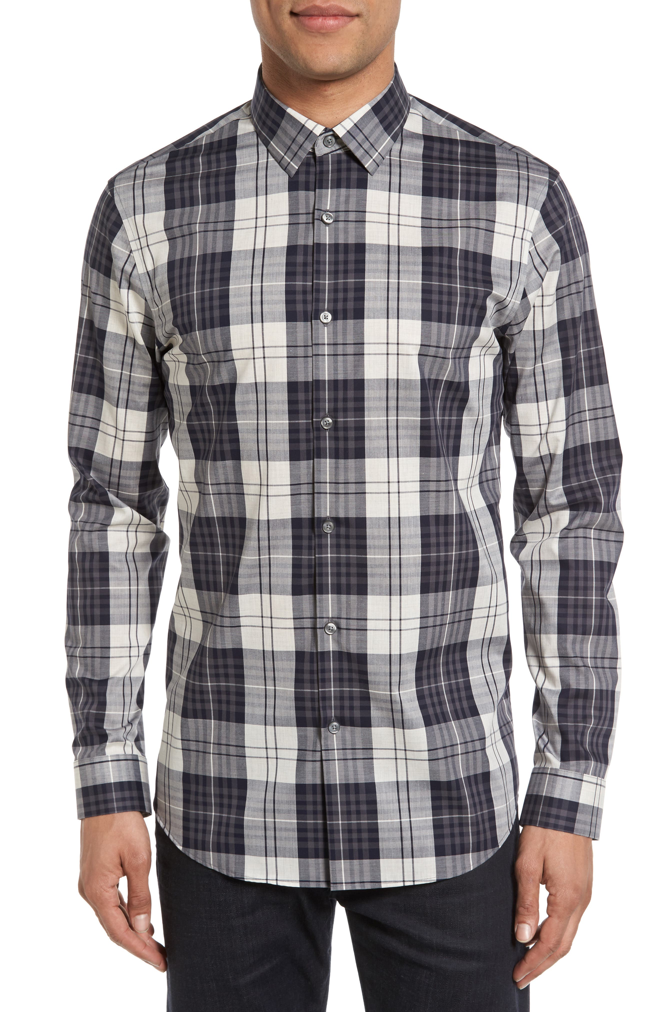 Calibrate Non-Iron Plaid Sport Shirt