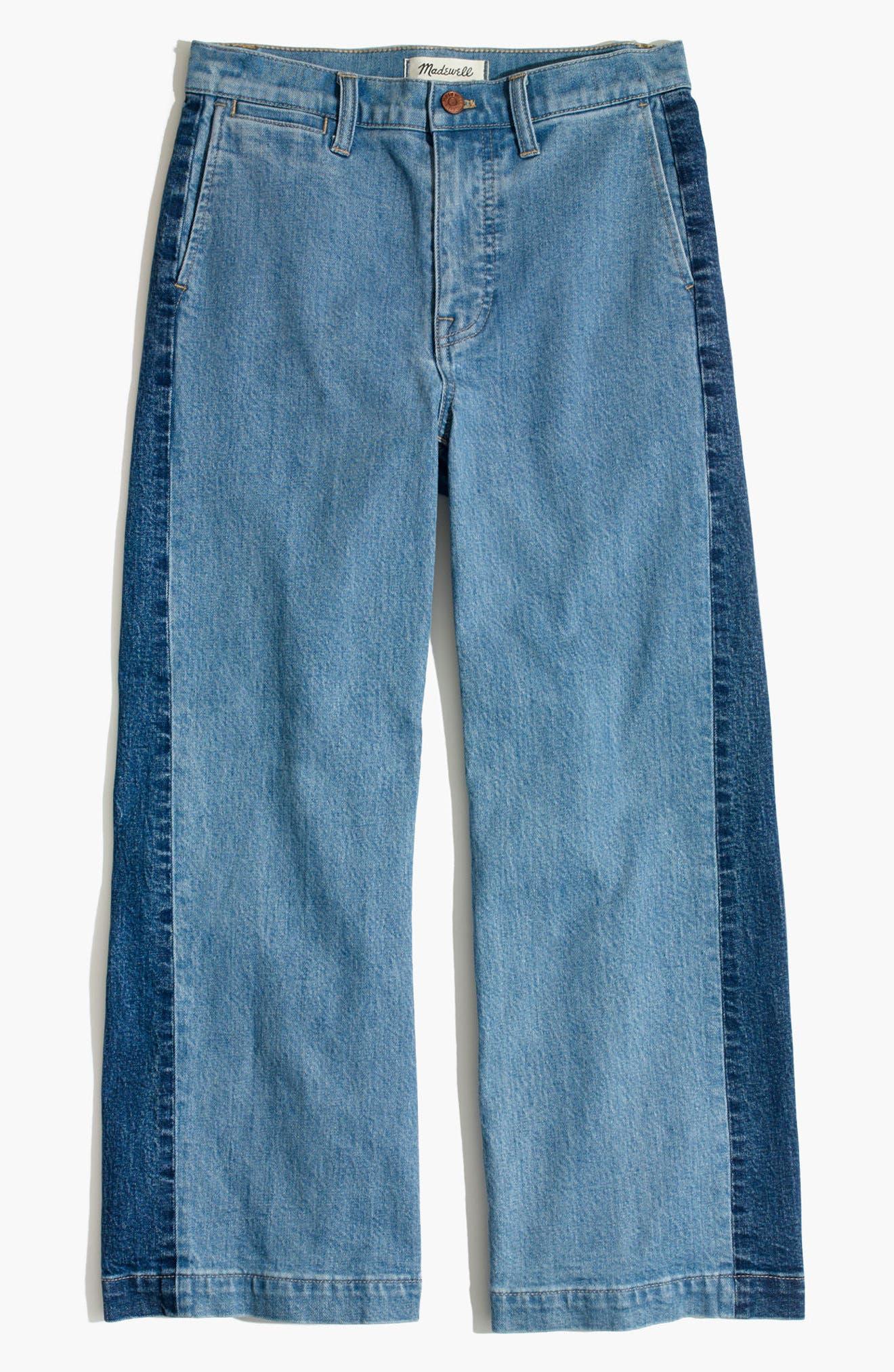 Alternate Image 5  - Madewell High Waist Crop Wide Leg Jeans (Ellendale Wash)