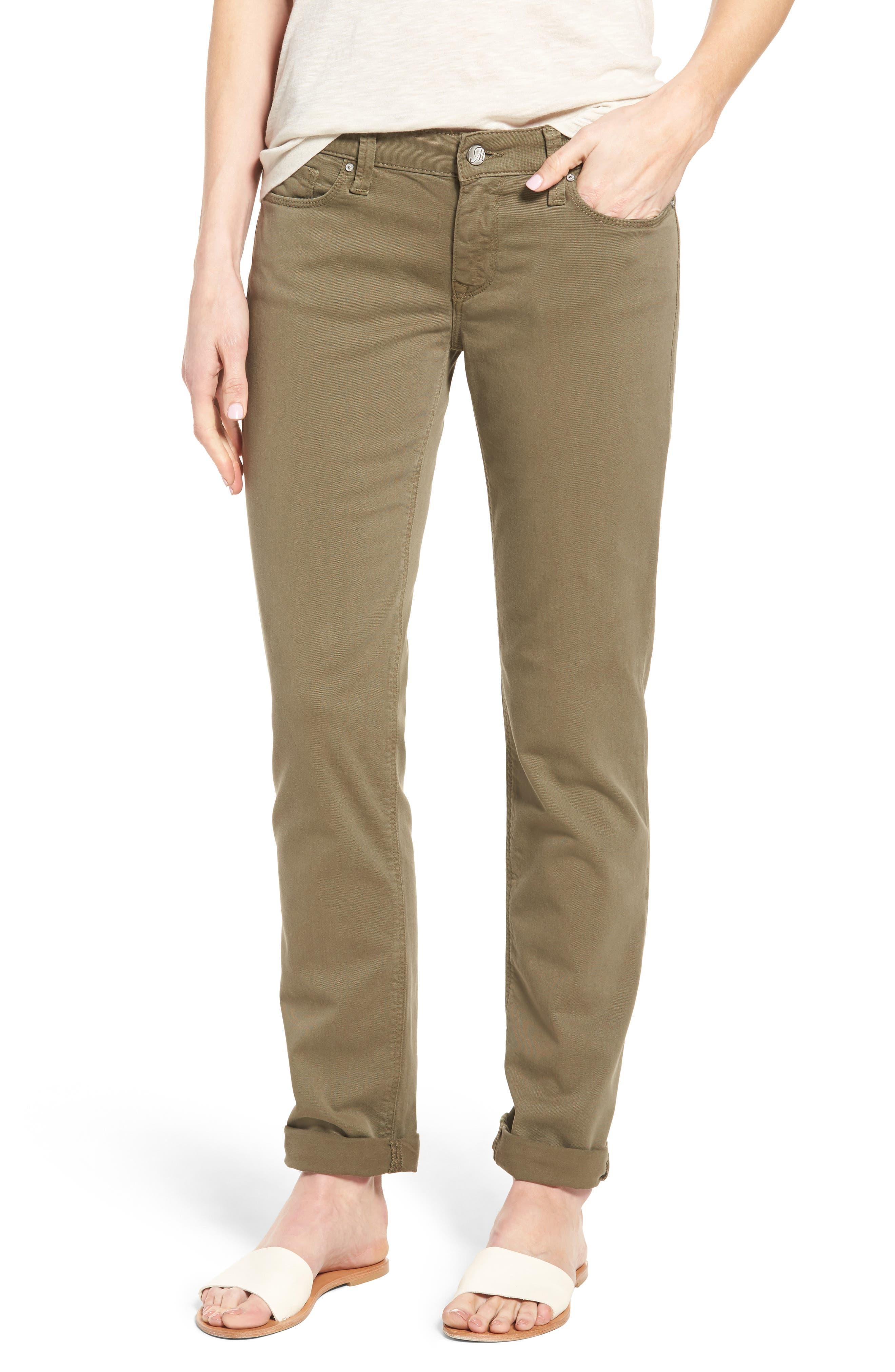Alternate Image 1 Selected - Mavi Jeans Emma Slim Boyfriend Stretch Twill Pants