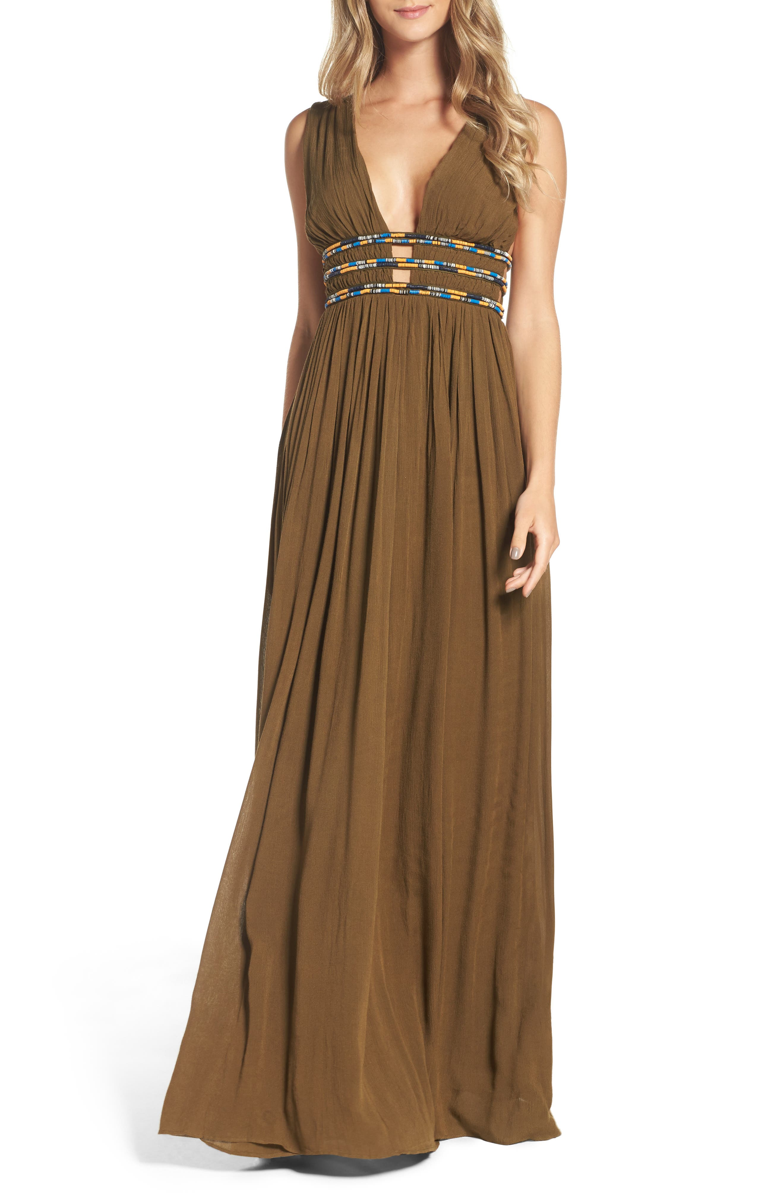 French Connection Hasan Beaded Maxi Dress