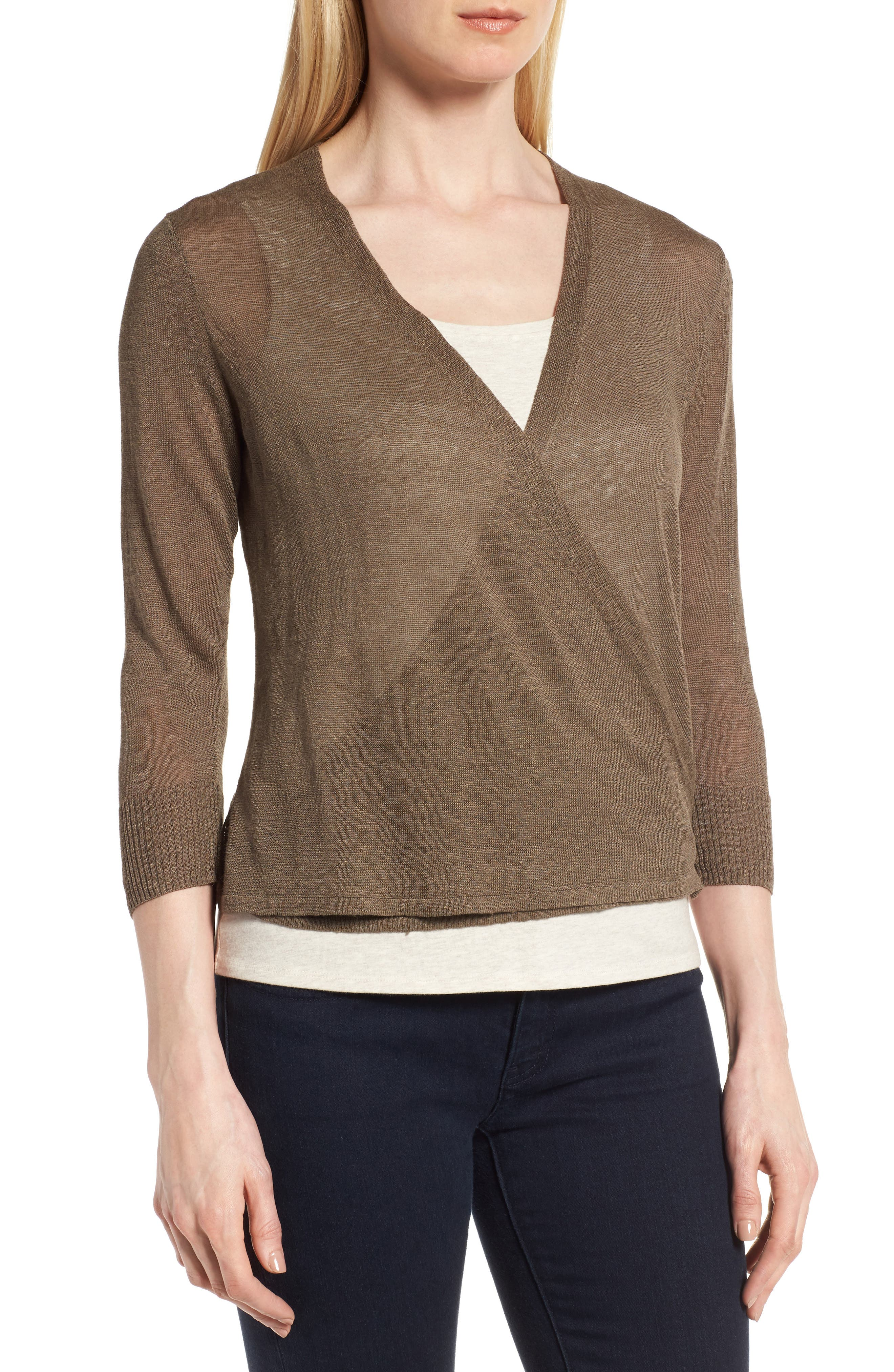 Alternate Image 3  - NIC+ZOE '4-Way' Convertible Three Quarter Sleeve Cardigan (Regular and Petite)