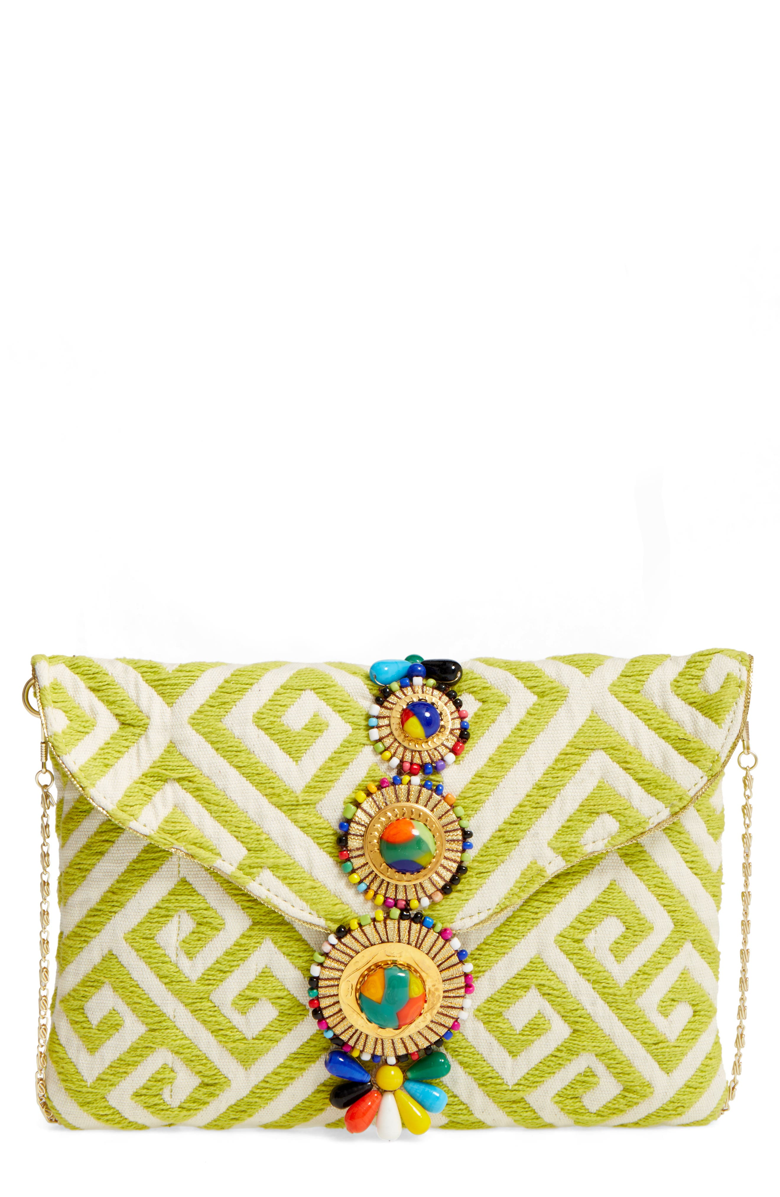 Main Image - Steven by Steve Madden Beaded & Embroidered Clutch
