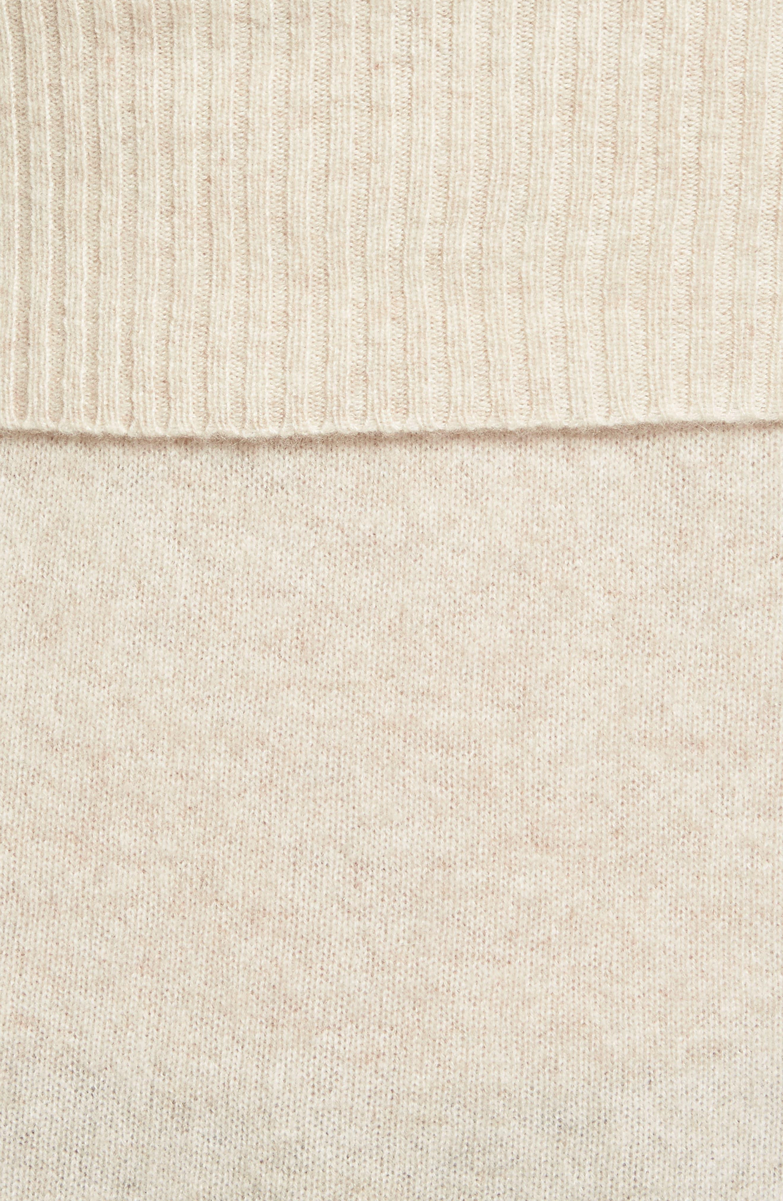 Alternate Image 5  - Halogen® Cashmere Off the Shoulder Sweater (Regular & Petite)