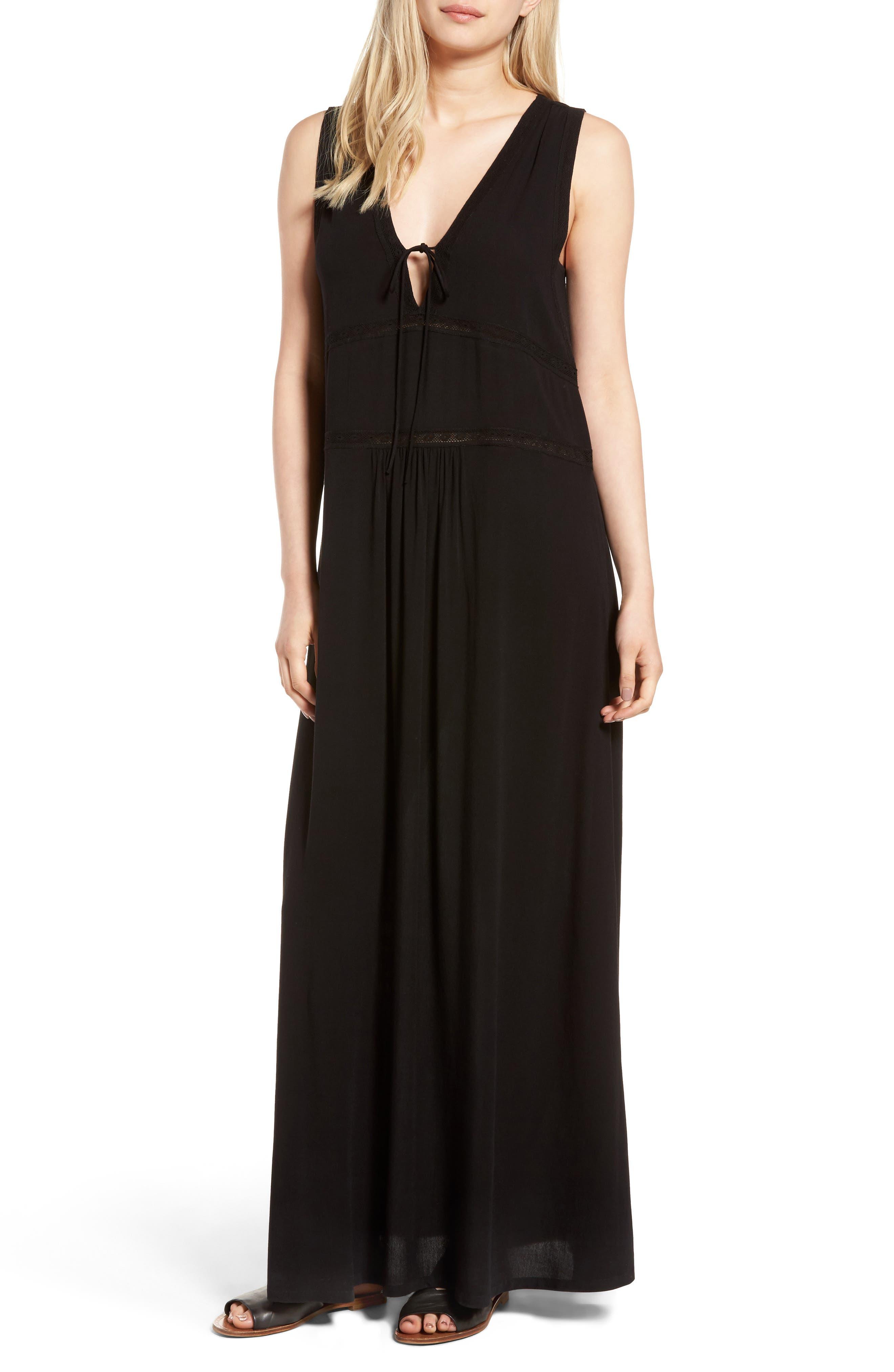 Hinge Lace-Up Maxi Dress
