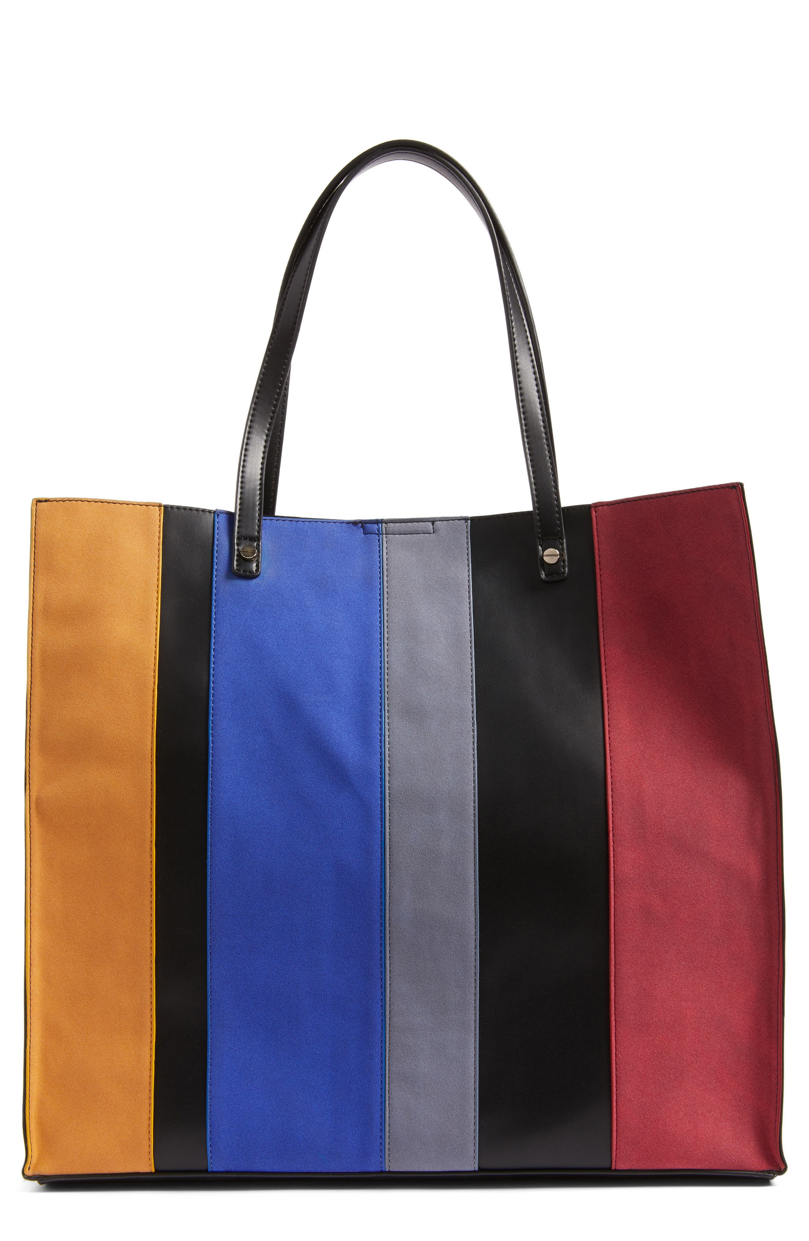 Alternate Image 1 Selected - BP. Stripe Faux Leather Tote