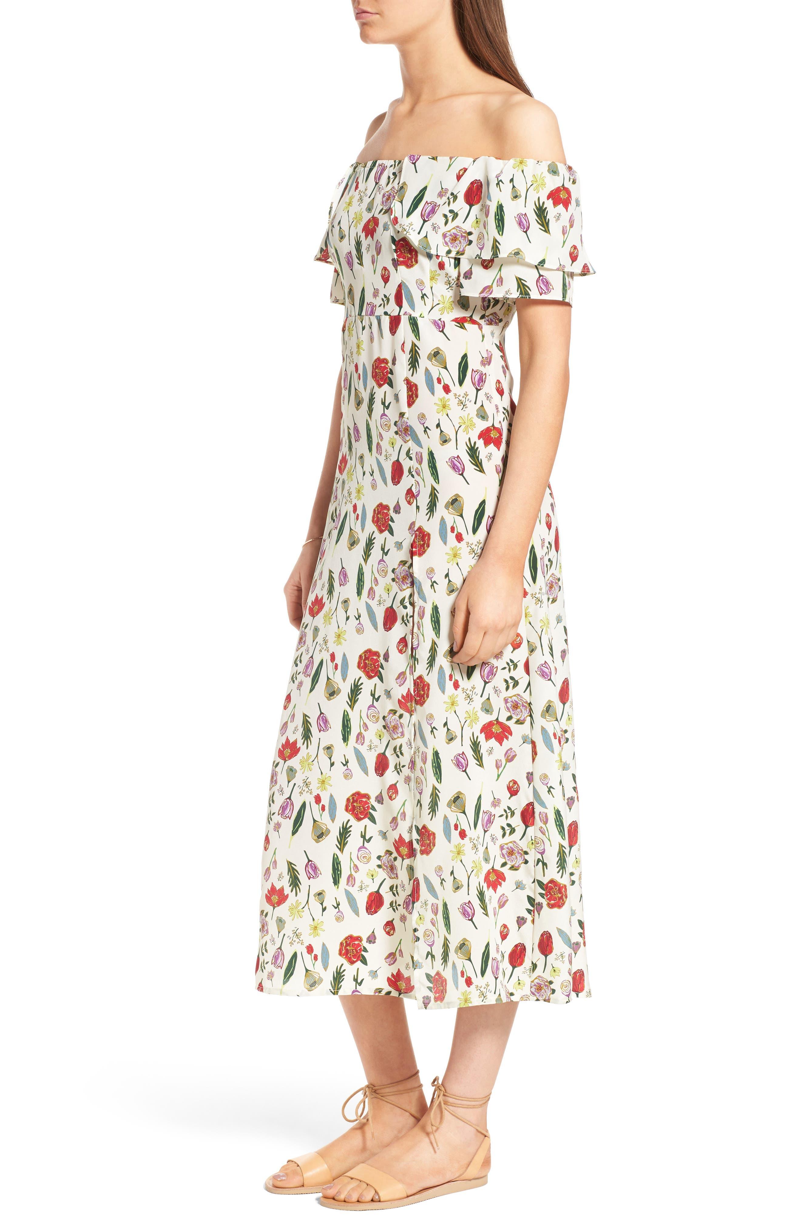 Alternate Image 3  - Stone Cold Fox Versilia Silk Midi Dress