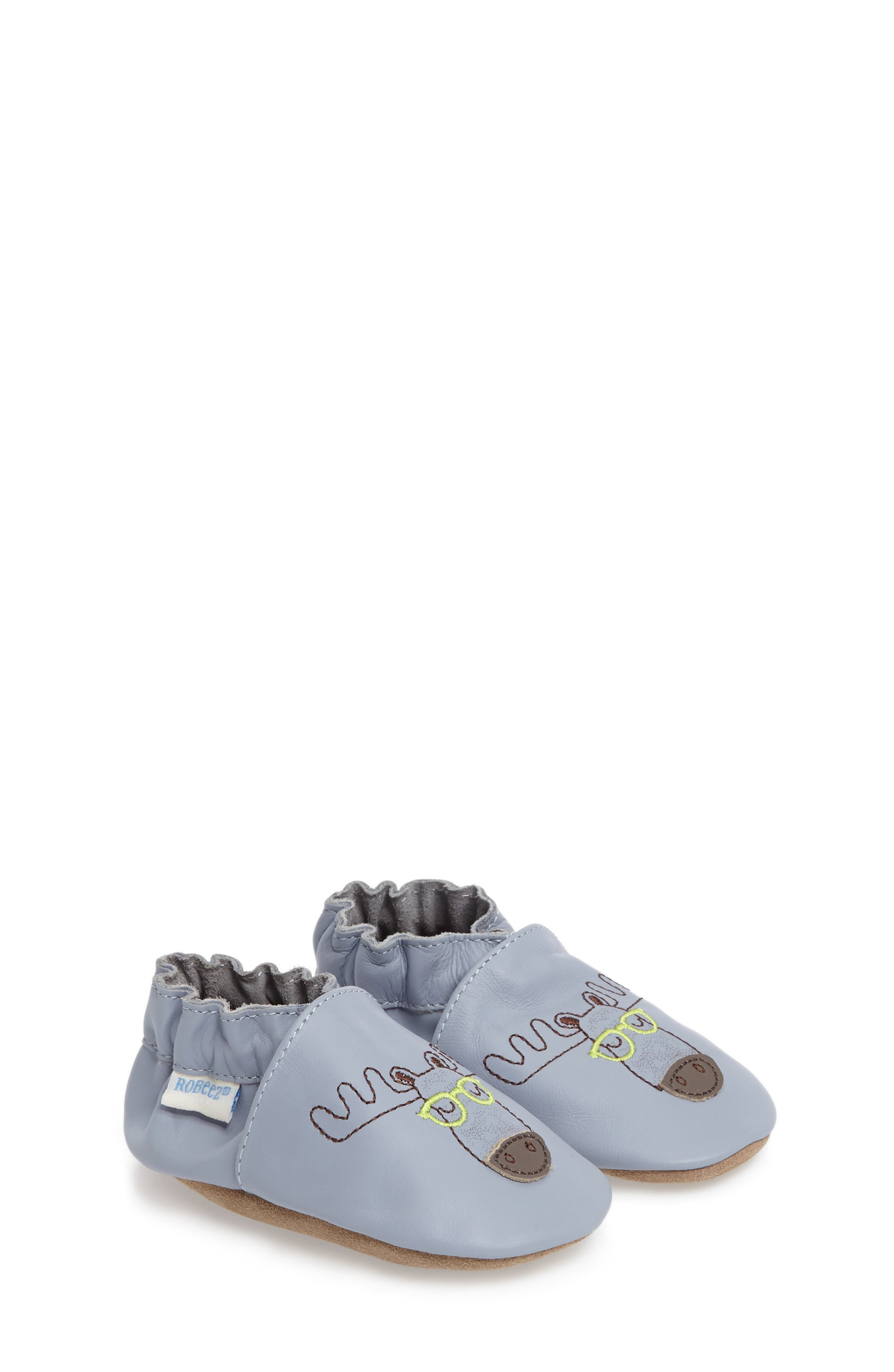 Robeez® Moose Handsome Crib Shoe (Baby)