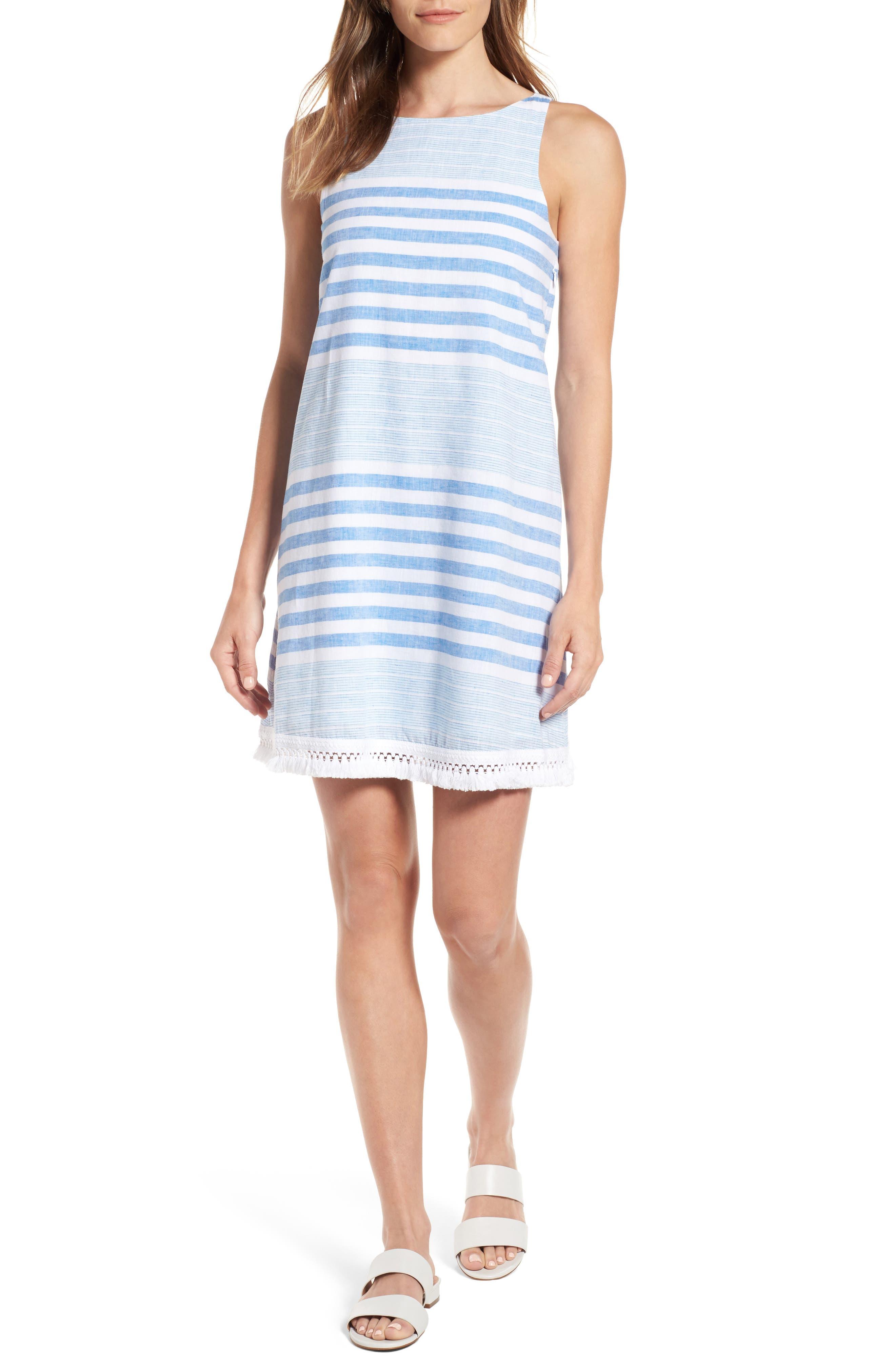 Vineyard Vines Stripe Linen & Cotton Shift Dress   Nordstrom