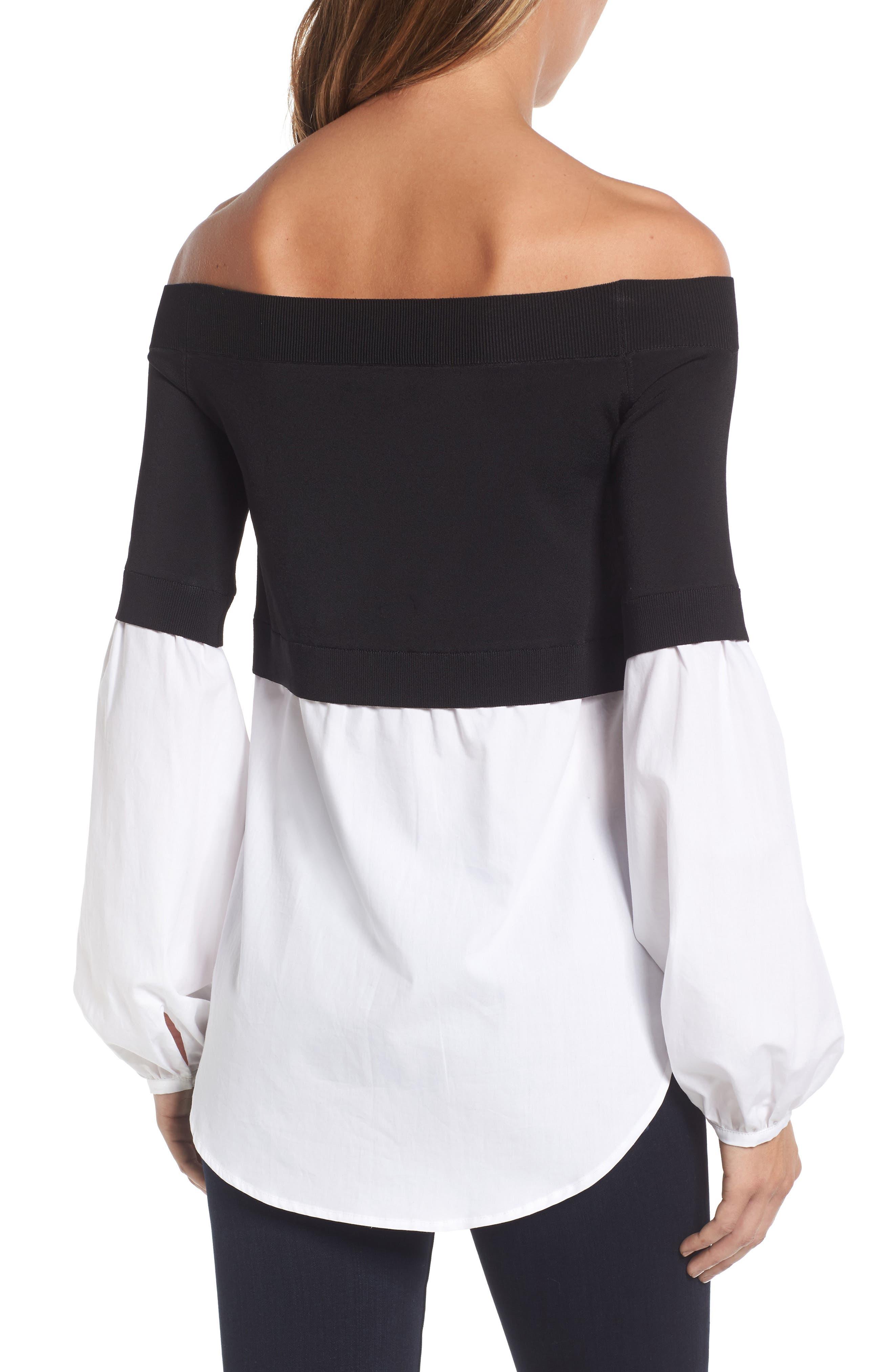 Alternate Image 3  - Trouvé Off the Shoulder Poplin Sweater