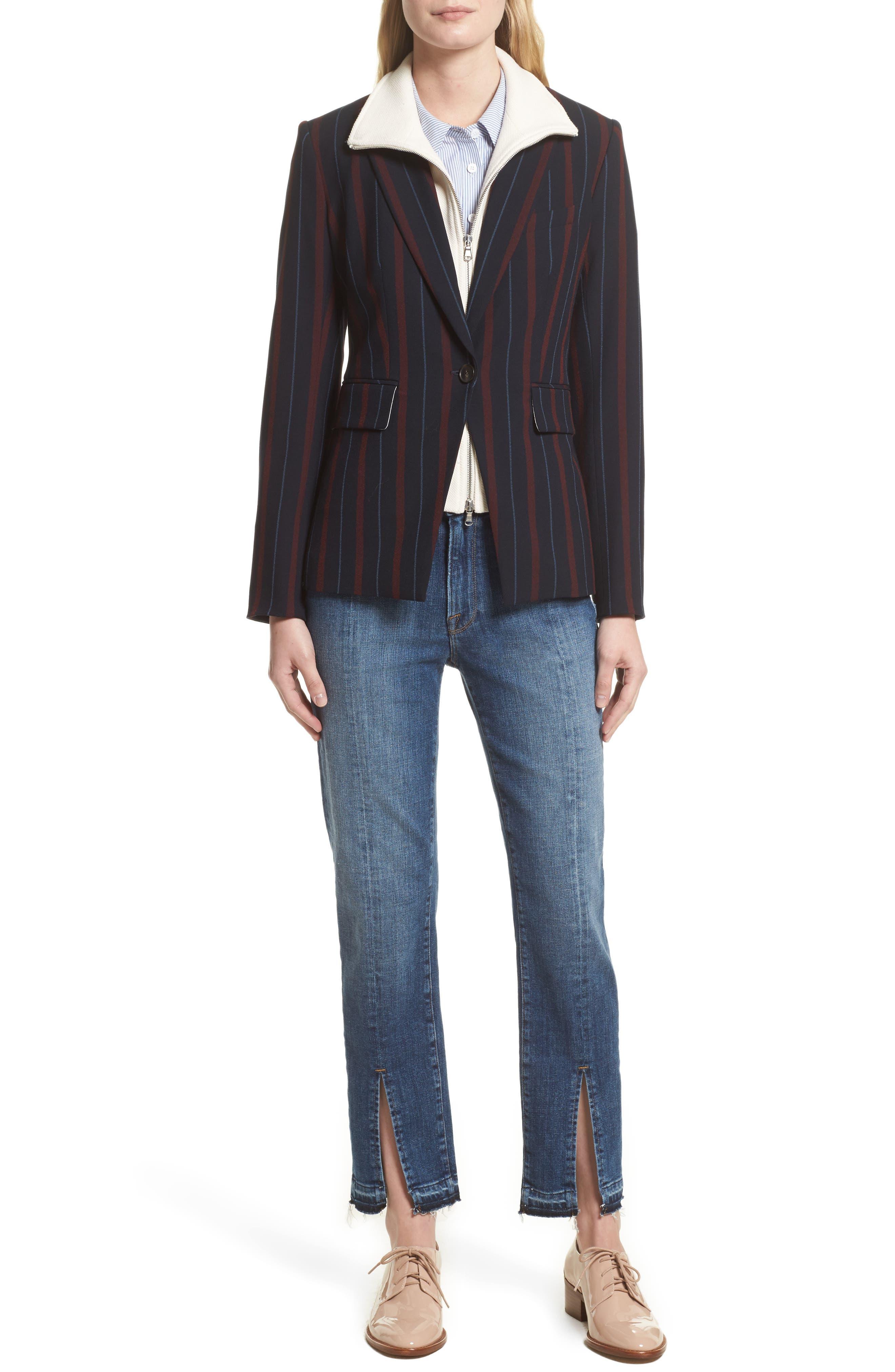 Alternate Image 8  - FRAME Le Nouveau Split Hem Jeans (Sheffield) (Nordstrom Exclusive)