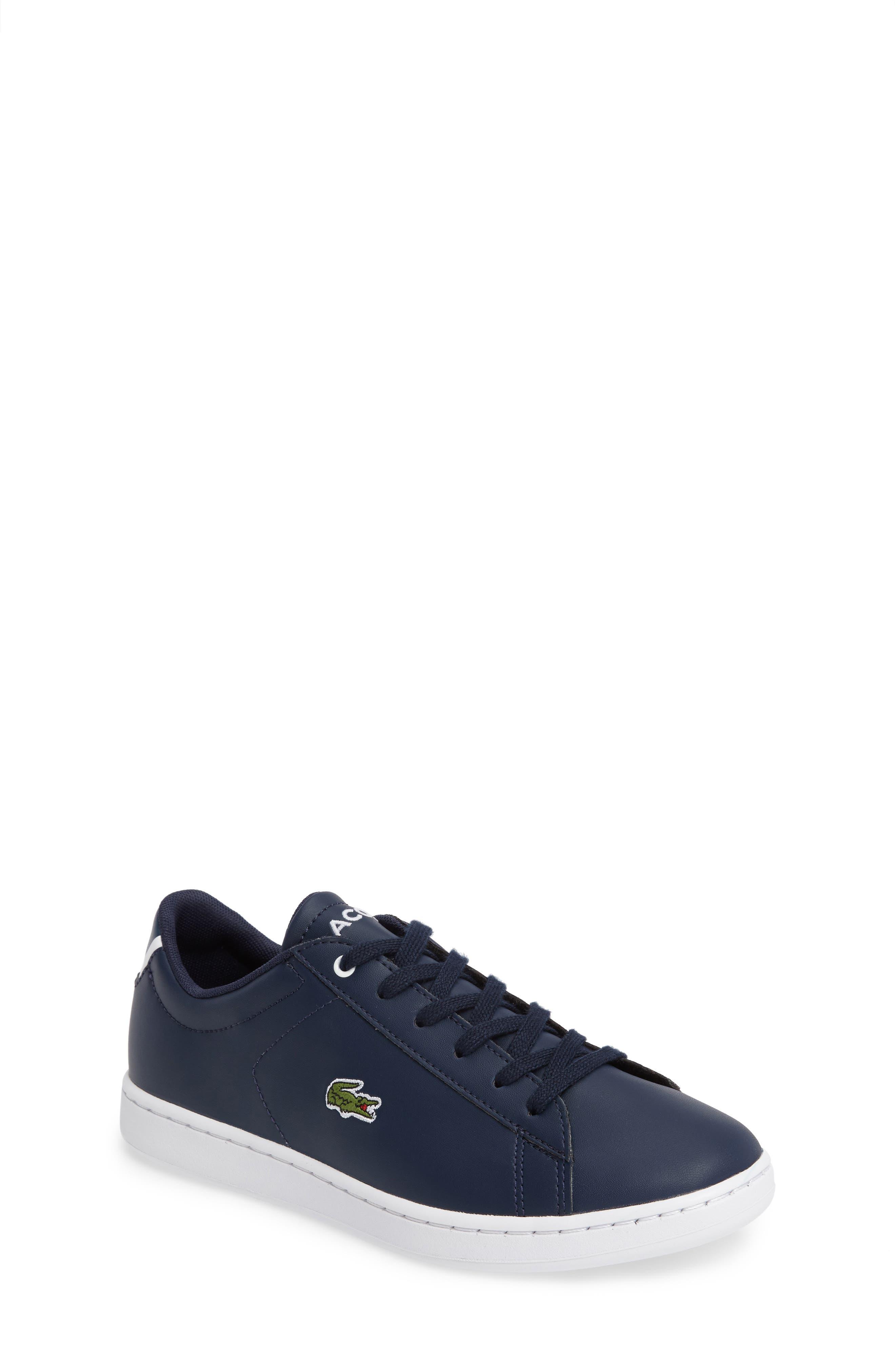 Lacoste Carnaby Evo Sneaker (Little Kid & Big Kid)
