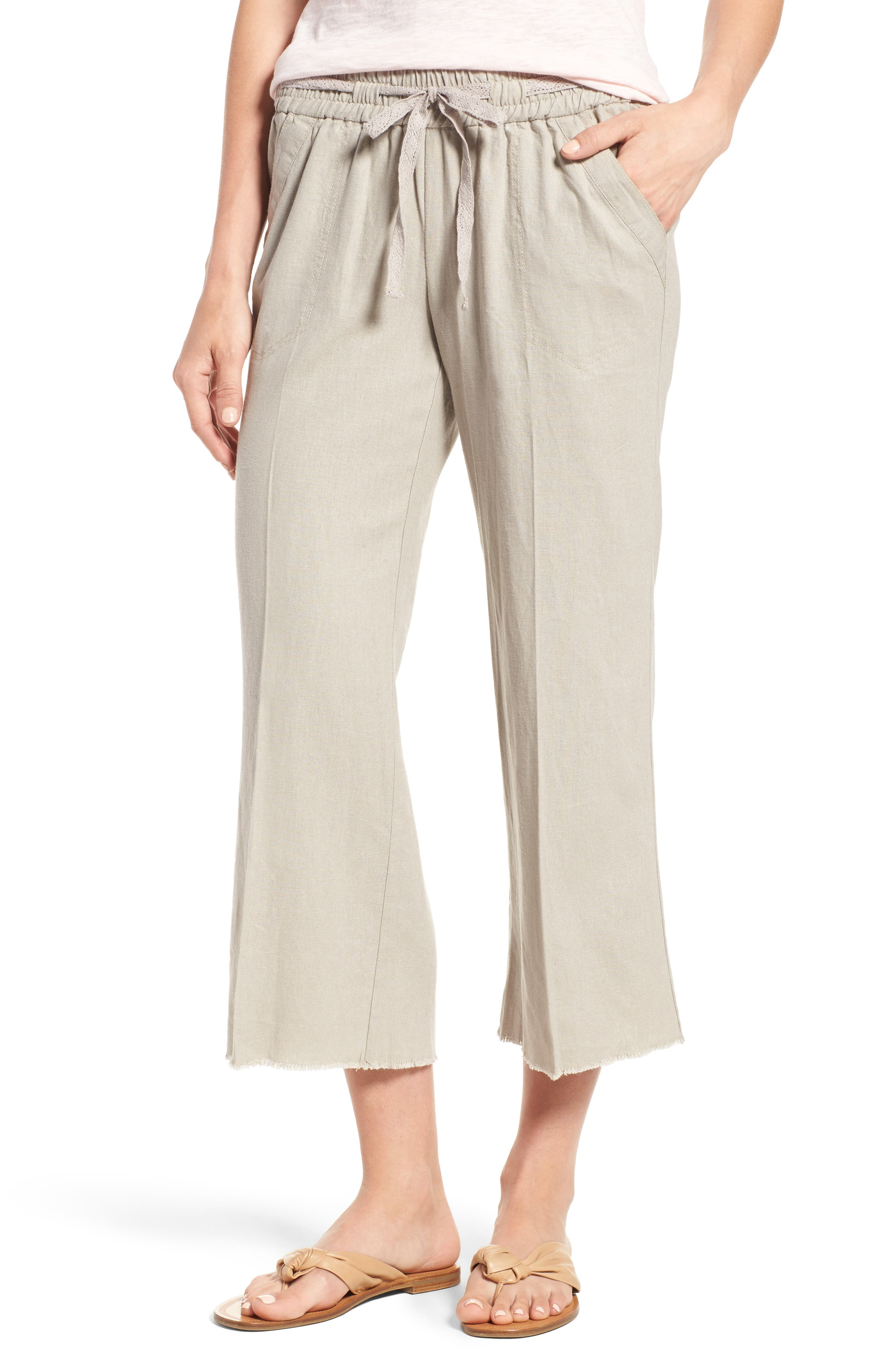 Wit & Wisdom Drawstring Crop Sailor Pants (Regular & Petite) (Nordstrom Exclusive)