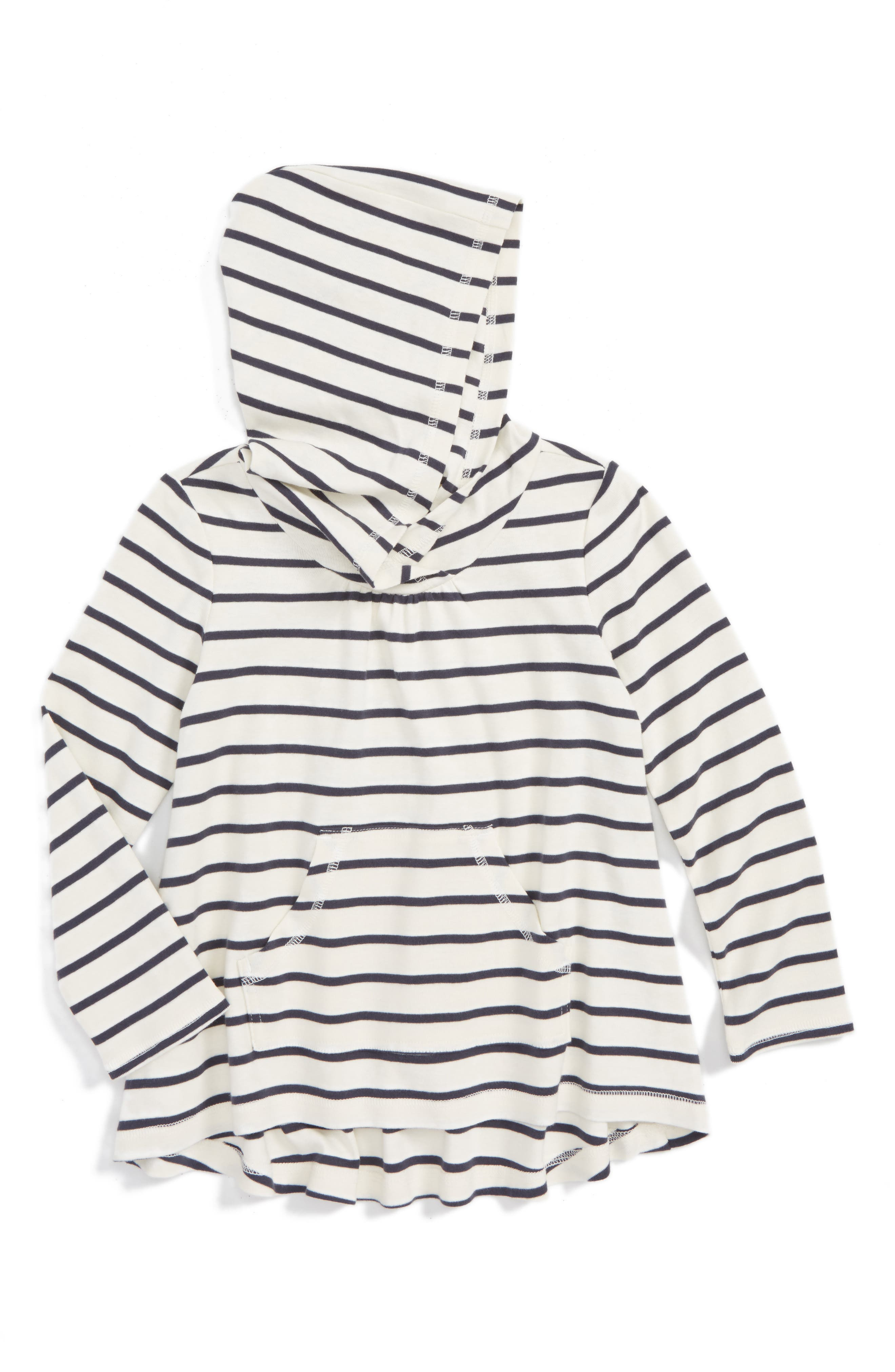 Tea Collection Stripe Twirl Hoodie (Toddler Girls, Little Girls & Big Girls)